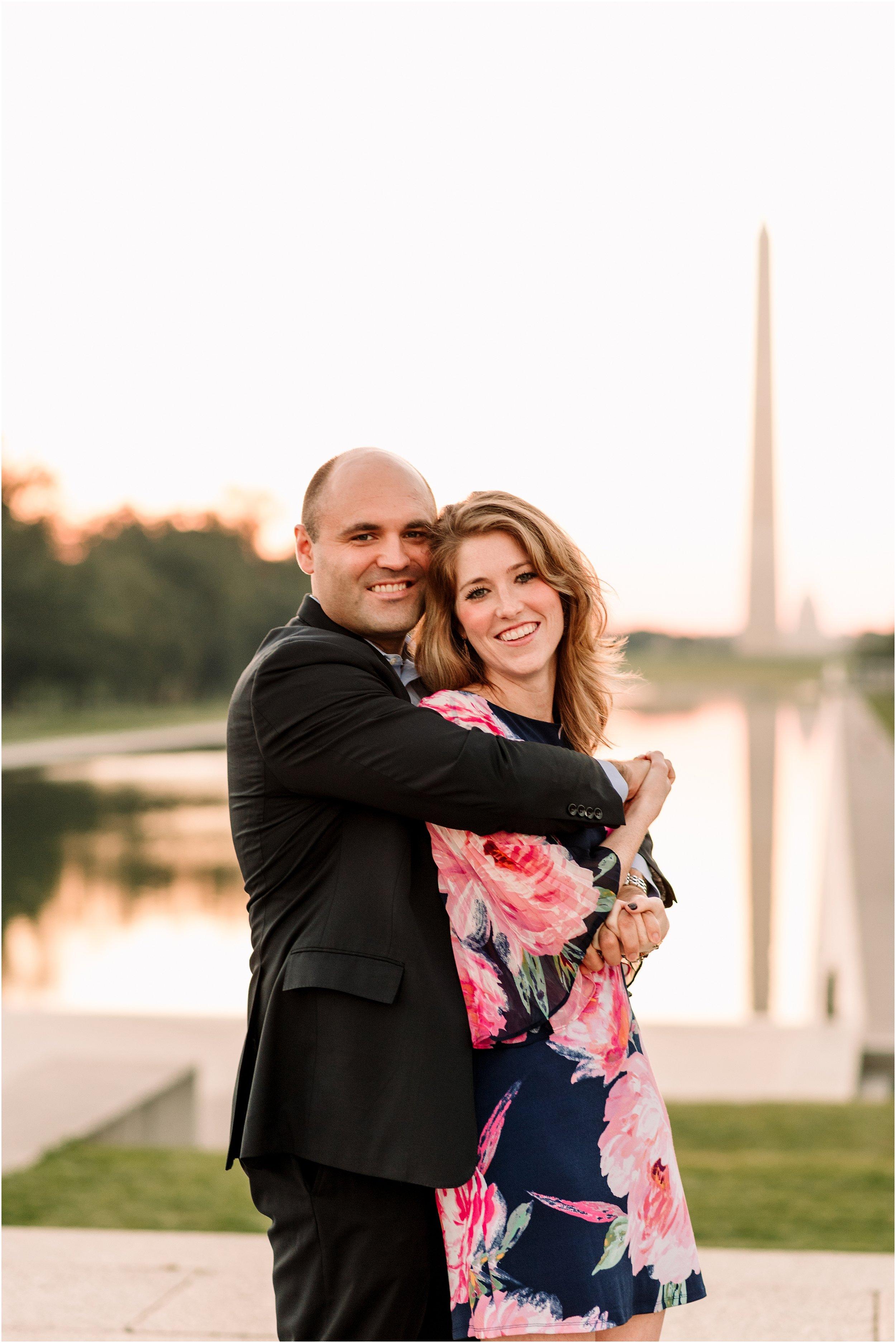 hannah leigh photography Sunrise Jefferson Memorial Engagement Session, Washington DC_1030.jpg