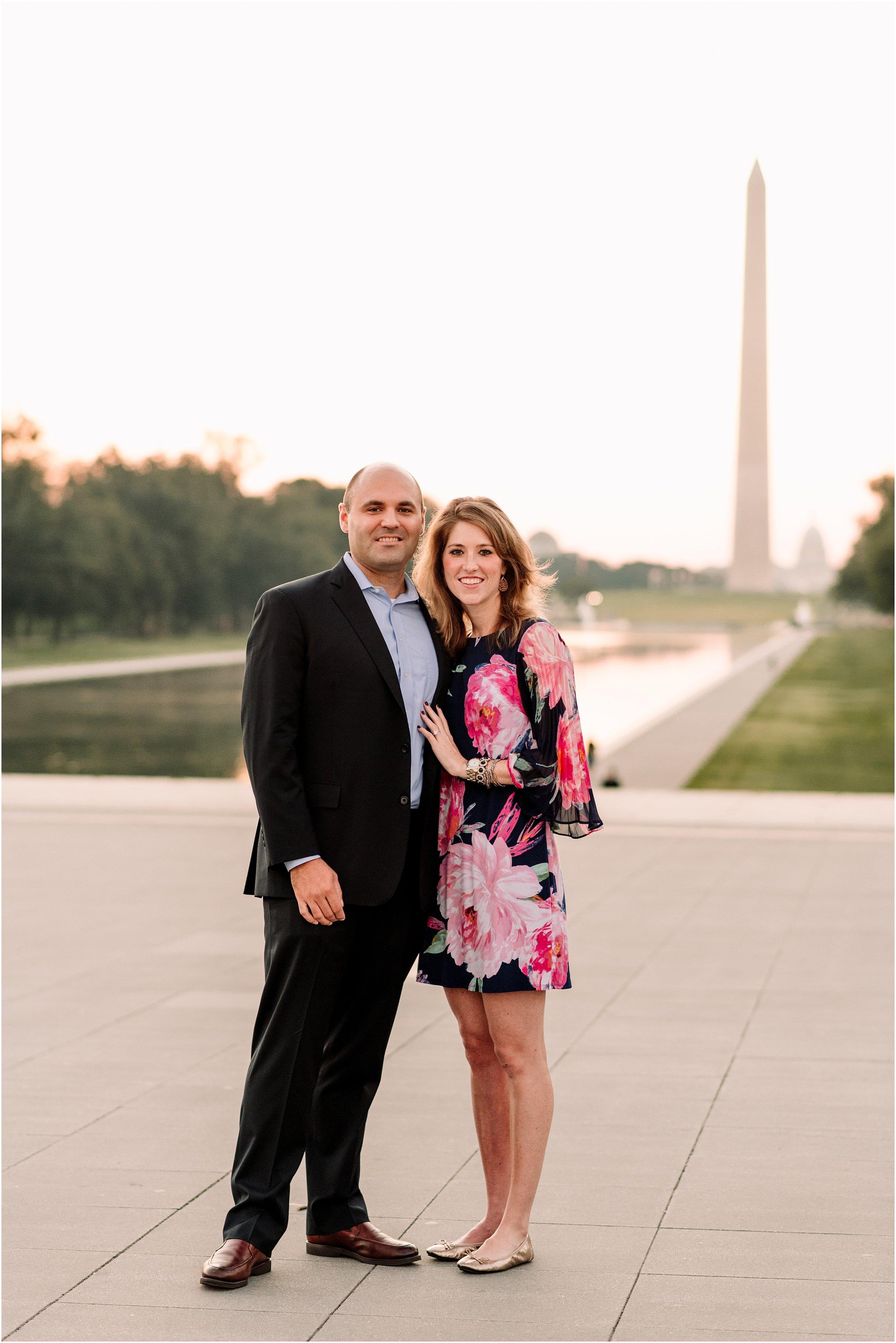 hannah leigh photography Sunrise Jefferson Memorial Engagement Session, Washington DC_1017.jpg