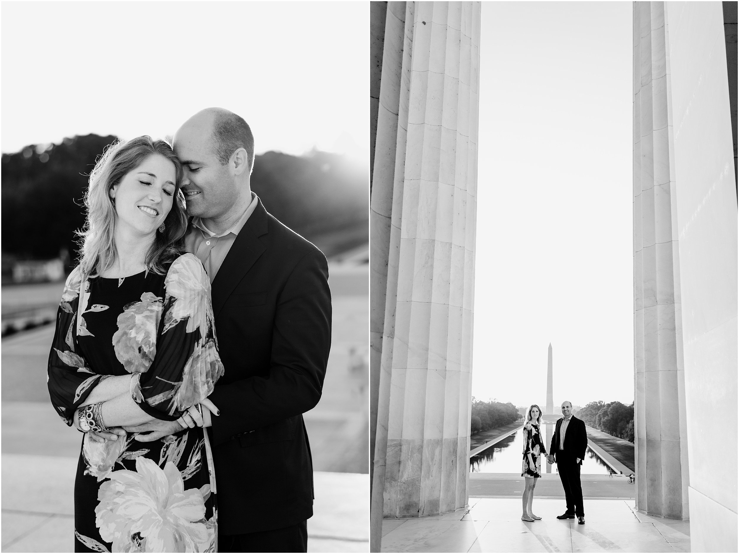 hannah leigh photography Sunrise Jefferson Memorial Engagement Session, Washington DC_1008.jpg