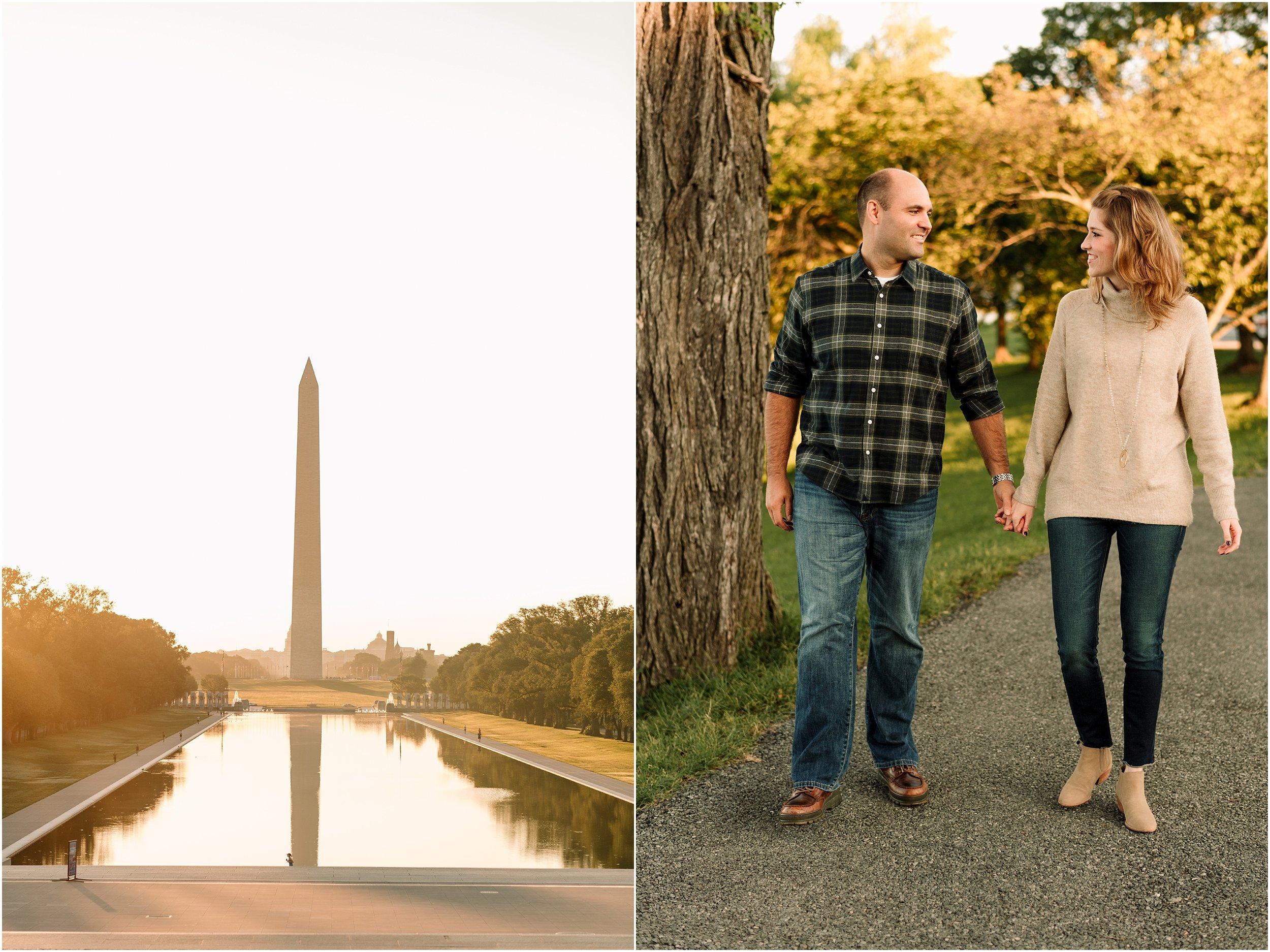 hannah leigh photography Sunrise Jefferson Memorial Engagement Session, Washington DC_1009.jpg