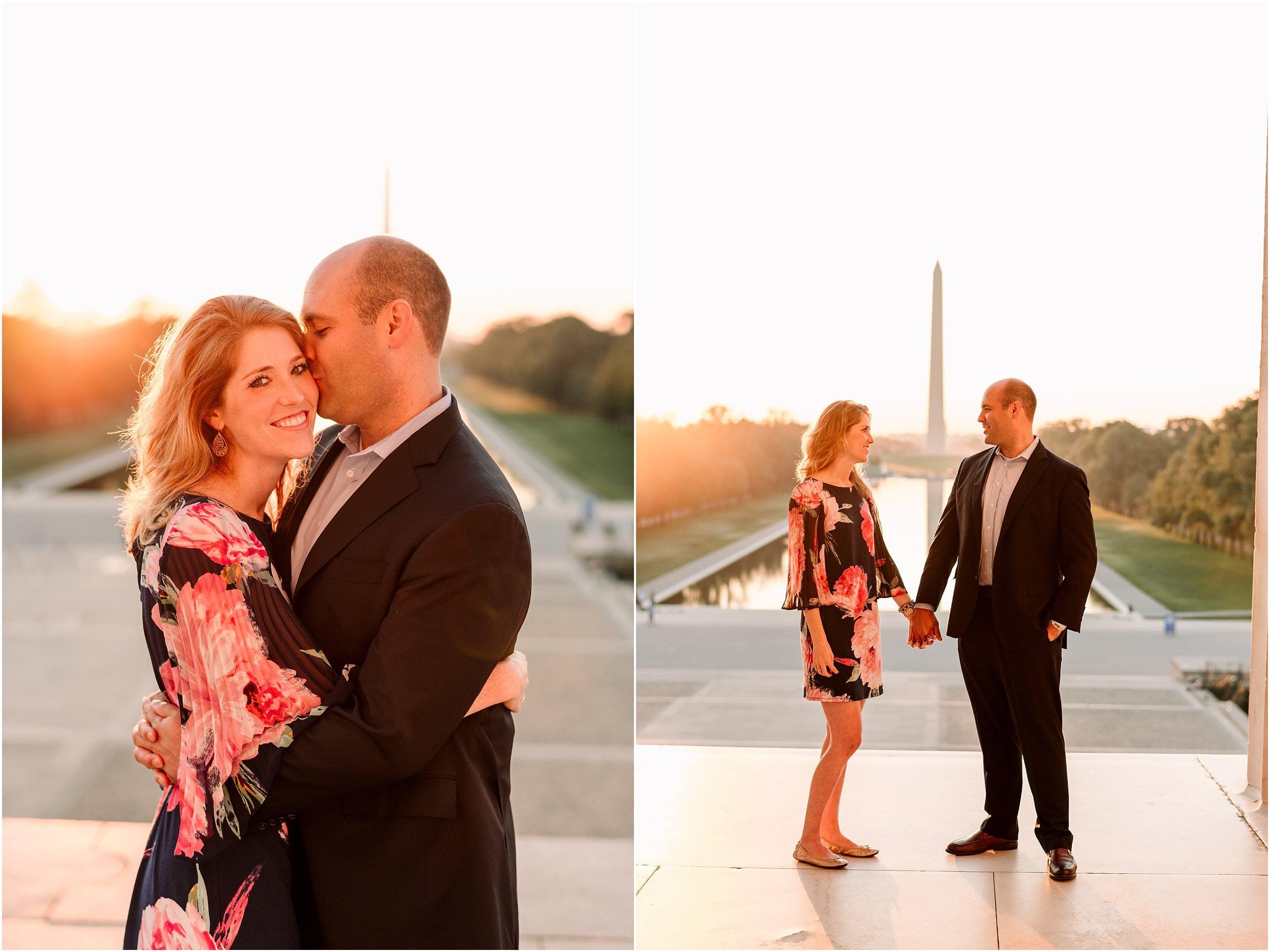 hannah leigh photography Sunrise Jefferson Memorial Engagement Session, Washington DC_1007.jpg