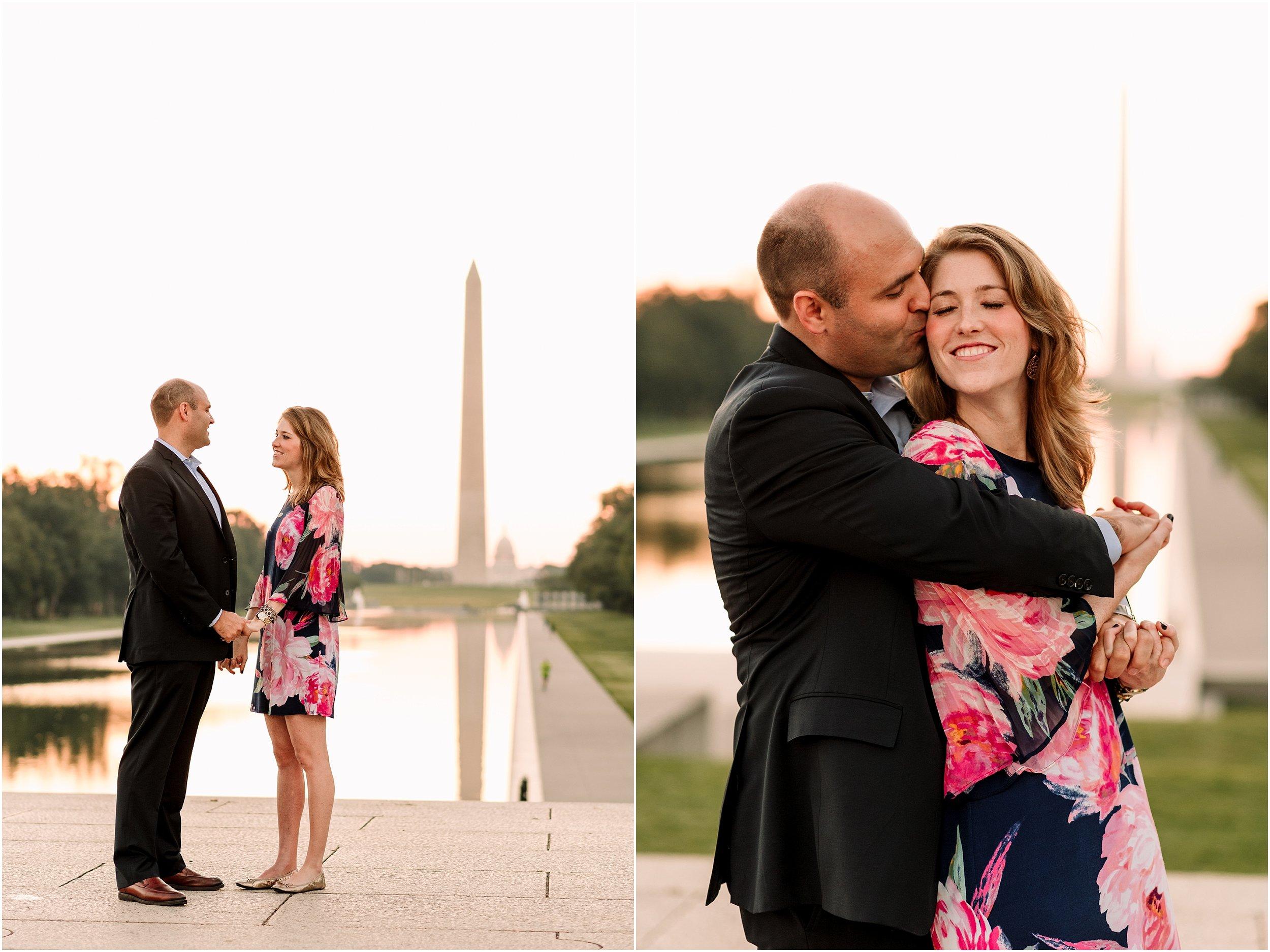 hannah leigh photography Sunrise Jefferson Memorial Engagement Session, Washington DC_1005.jpg