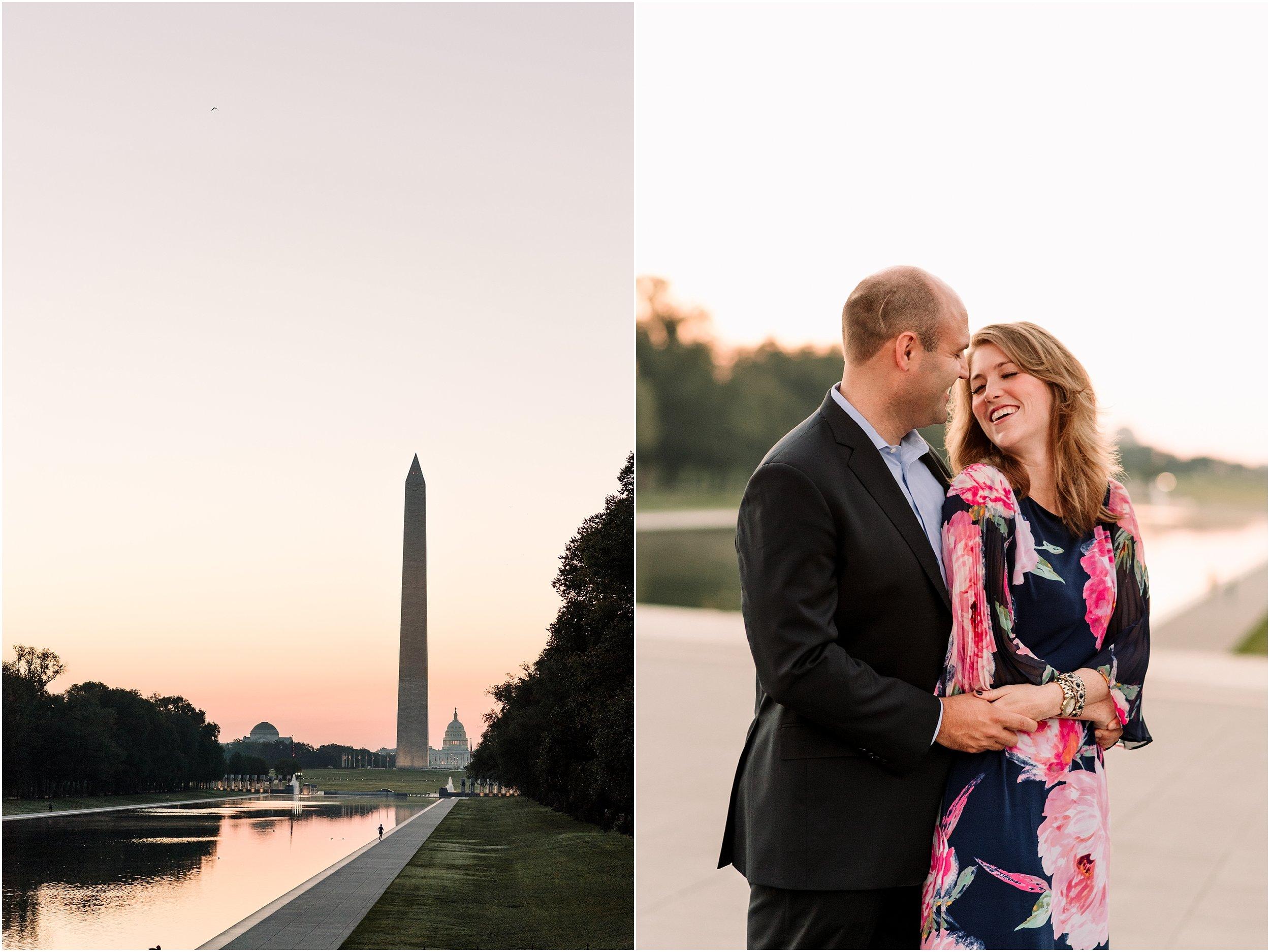hannah leigh photography Sunrise Jefferson Memorial Engagement Session, Washington DC_1003.jpg
