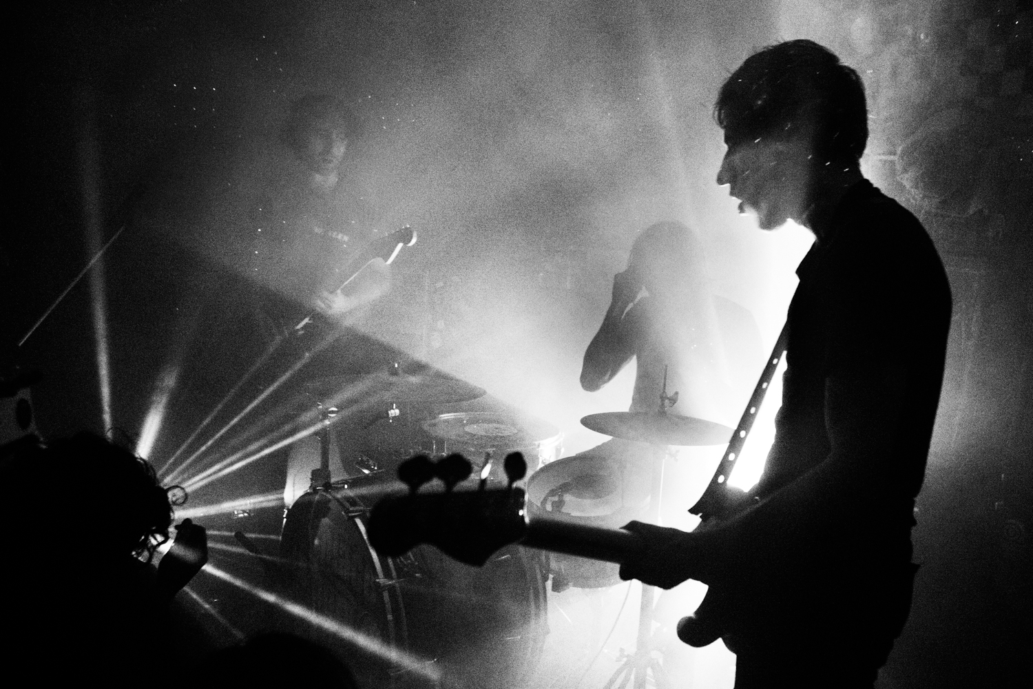 A Place to Bury Strangers live during their last show at Death By Audio on November 22, 2014