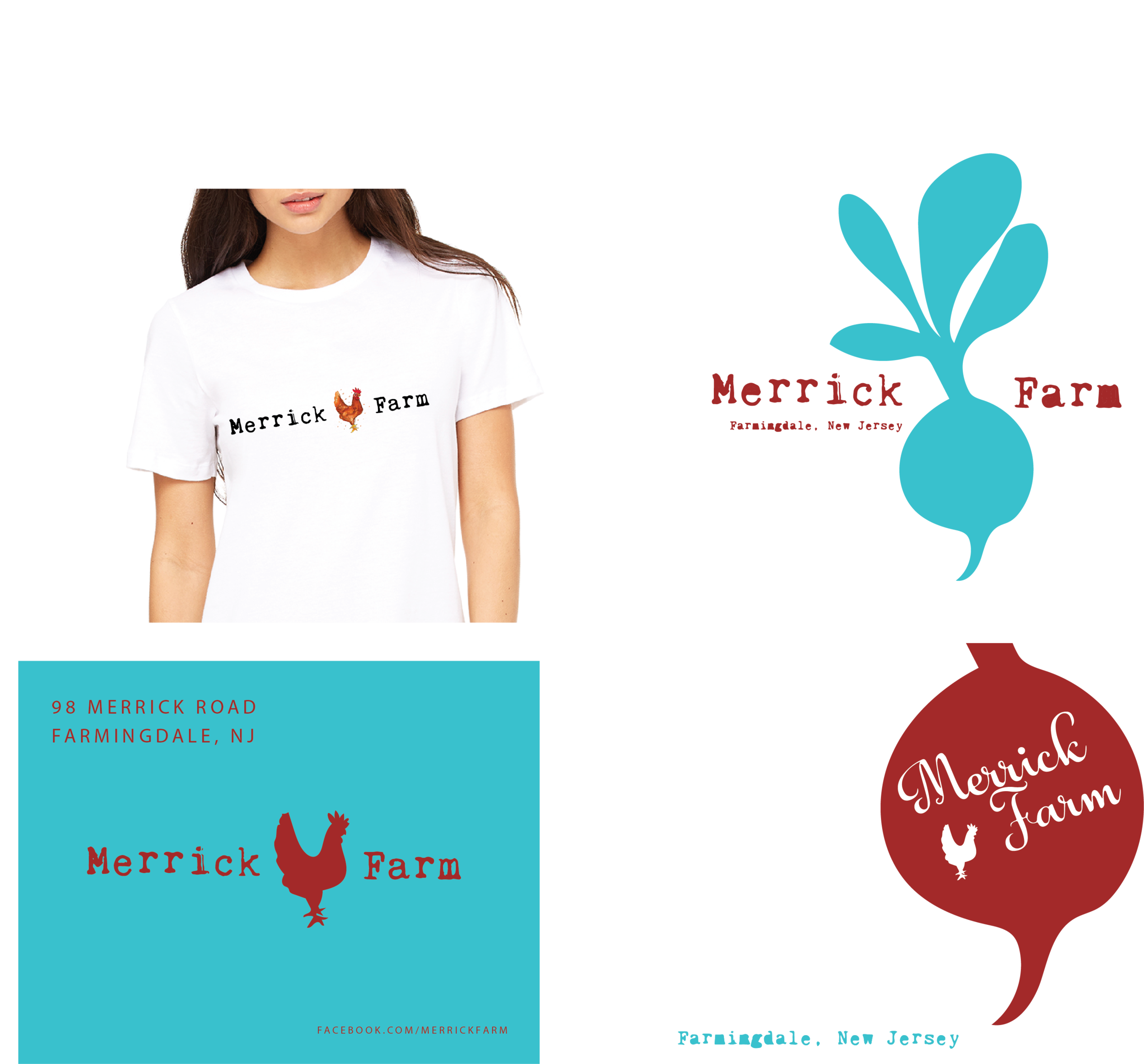 Merrick Farm - A farm in New Jersey that sells to local restaurants. Marketing materials and branding.