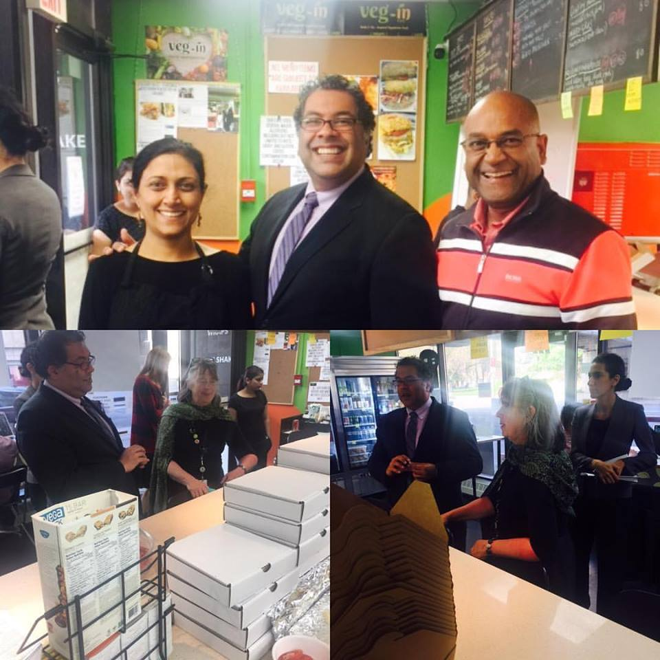 Calgary Mayor Naheed Nenshi's Visit to Veg-In