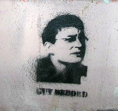 Stencil of Guy Debord, Lyon, France, 2008. Photo by  biphop , some rights reserved (CC BY-NC-SA 2.0)