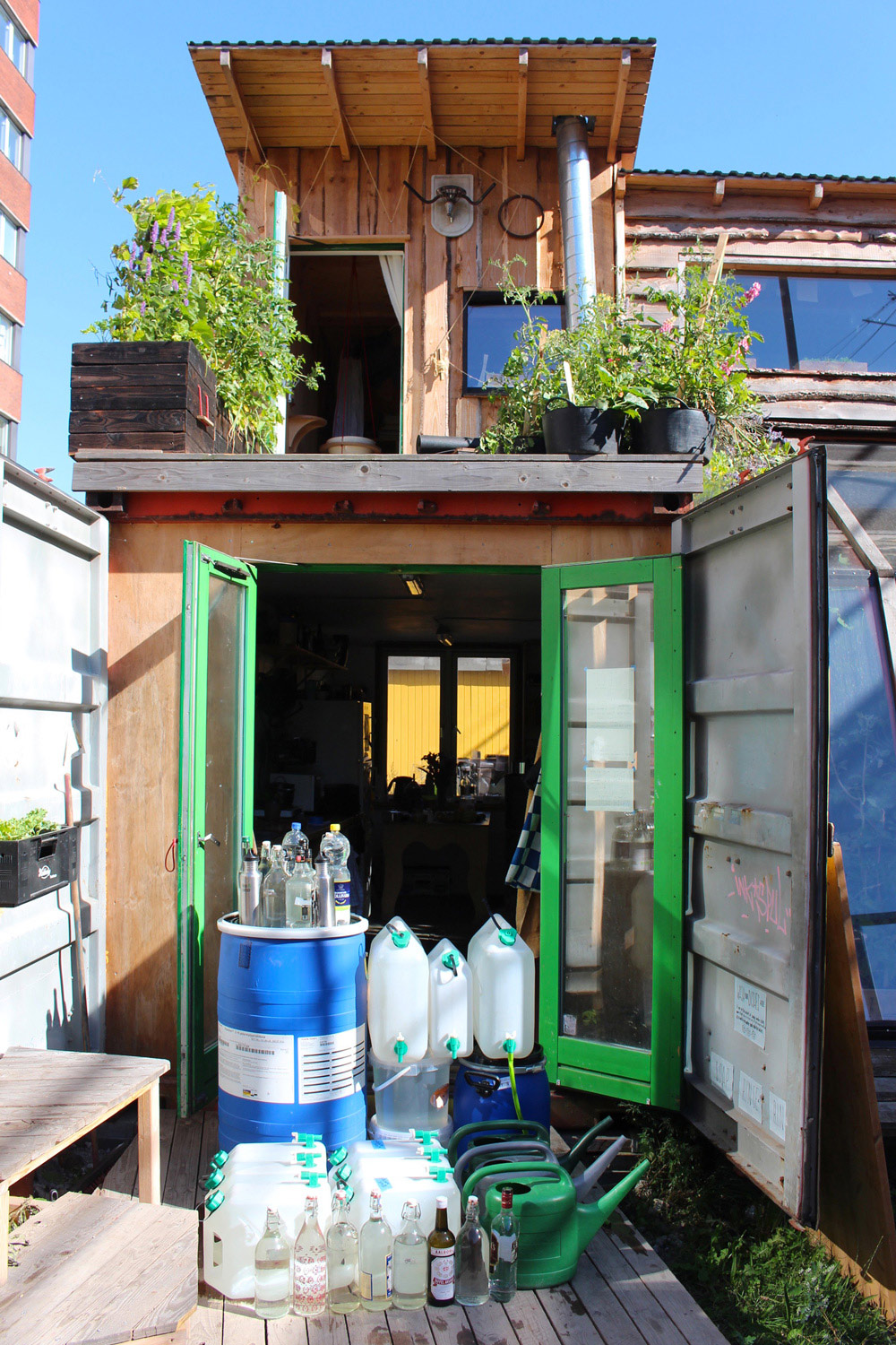 Drinking water collection at Container By