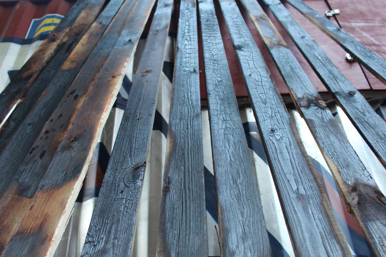 Burnt planks