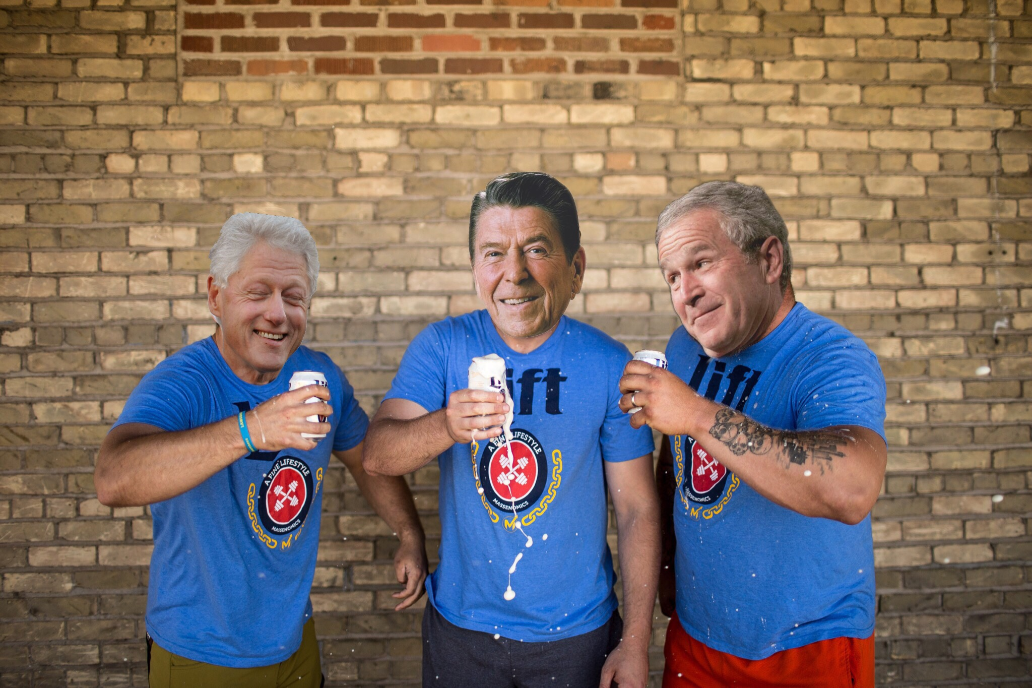 Click on this picture of Bill, Ronald, and George.  They know good shirts when they see em'.
