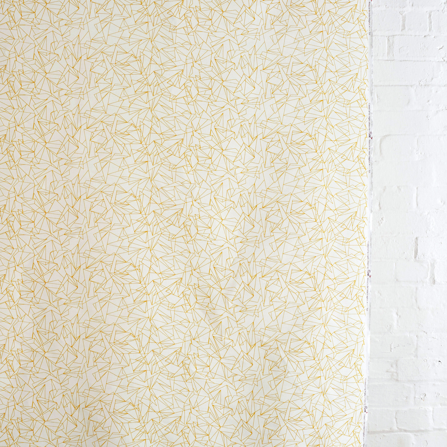 Cracked Ice Minor Mustard fabric