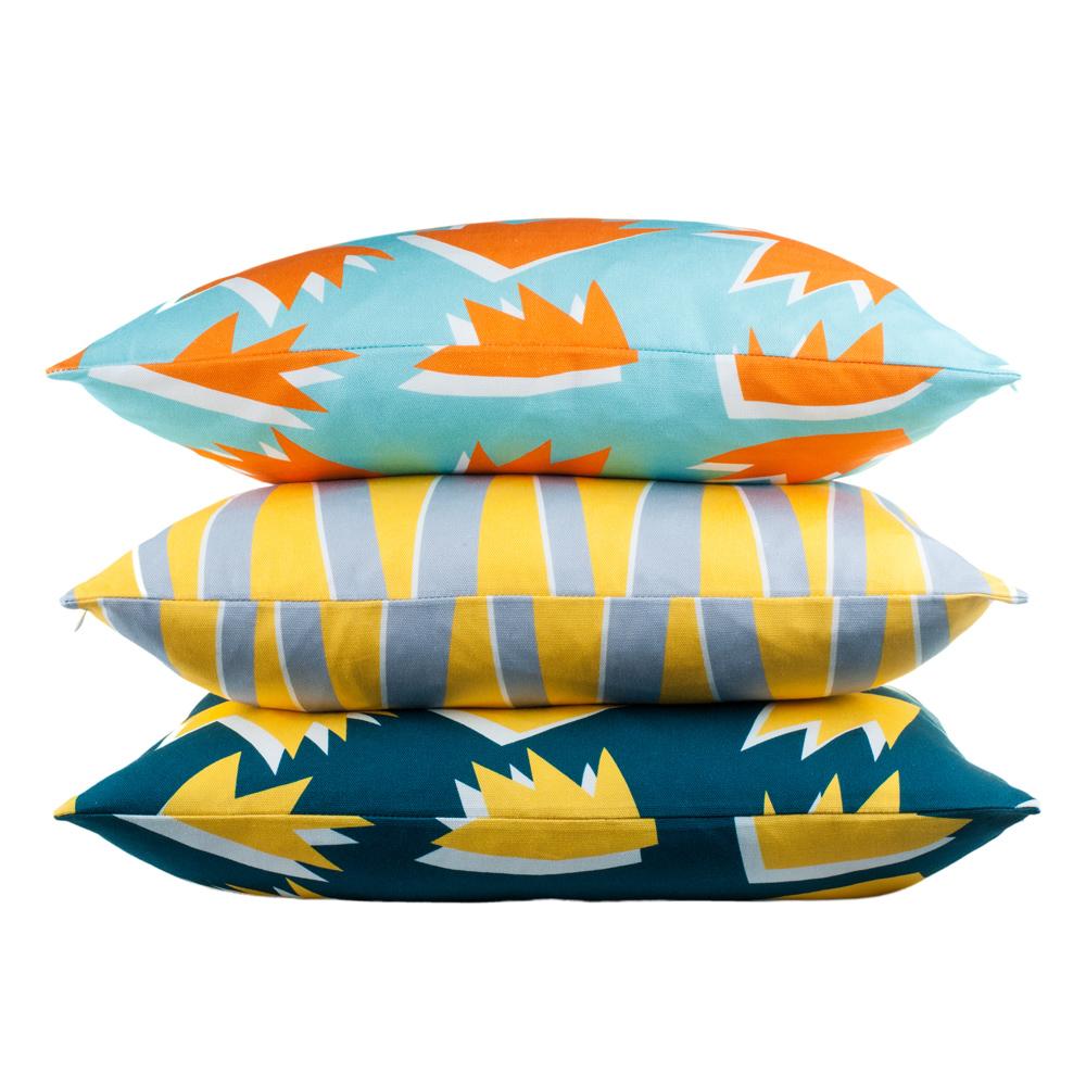 Flock x Sunny Todd Prints cushions
