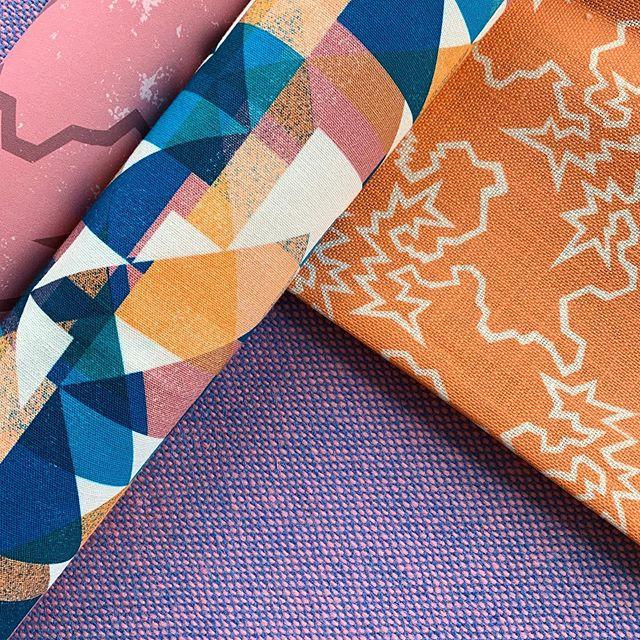 The juiciest combo but it's always wonderful when clients embrace the COLOUR 💜🧡💜🧡 . . . . #flockfabrics #flockstudio #Print #pattern #surfacedesign #colourful #geometric #textiles #fabrics #furnishingfabrics #fabricbythemetre #madeintheuk #artists #designers #graduatedesigners #design #interior #interiordesign #interiordecor #interiorstyling #cushions #patternyourhome #banthebeige #colourlover #colourhunter #ihavethisthingwithcolour #colourcolorlovers