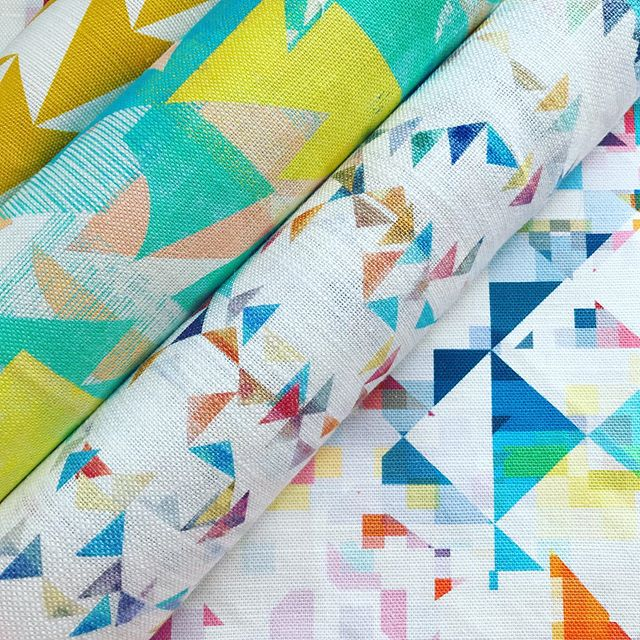 Triangles and textures to start this Tuesday 🔺🔶🔸🔷🔻🔸🔷🔹🔸🔺 Some of my favourite patterns from our super talented Flock designers. 🔺🔶🔸🔷🔻🔸🔷🔹🔸🔺 Digitally printed in Lancashire on the softest linens and cottons, perfect for upholstery and soft furnishings! 🔺🔶🔸🔷🔻🔸🔷🔹🔸🔺 . . . #flockfabrics #flockstudio #Print #pattern #surfacedesign #colourful #geometric #textiles #fabrics #furnishingfabrics #fabricbythemetre #madeintheuk #artists #designers #graduatedesigners #design  #interiordesign #interiordecor #interiorstyling #product #cushions #curtains #upholstery #patternyourhome #banthebeige #colourlover #colourhunter #ihavethisthingwithcolour #colourcolorlovers
