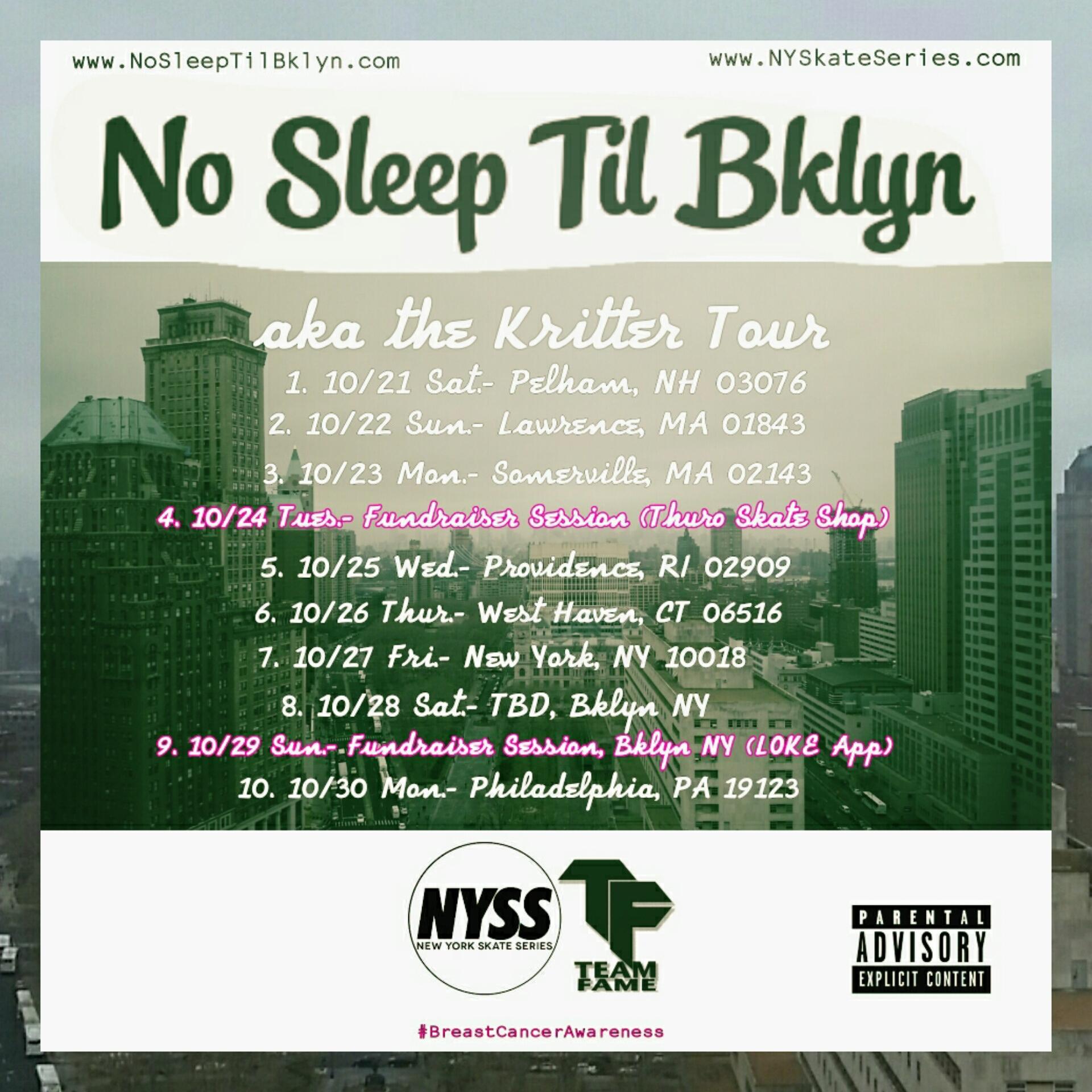 No Sleep Til Bklyn aka Kritter Tour