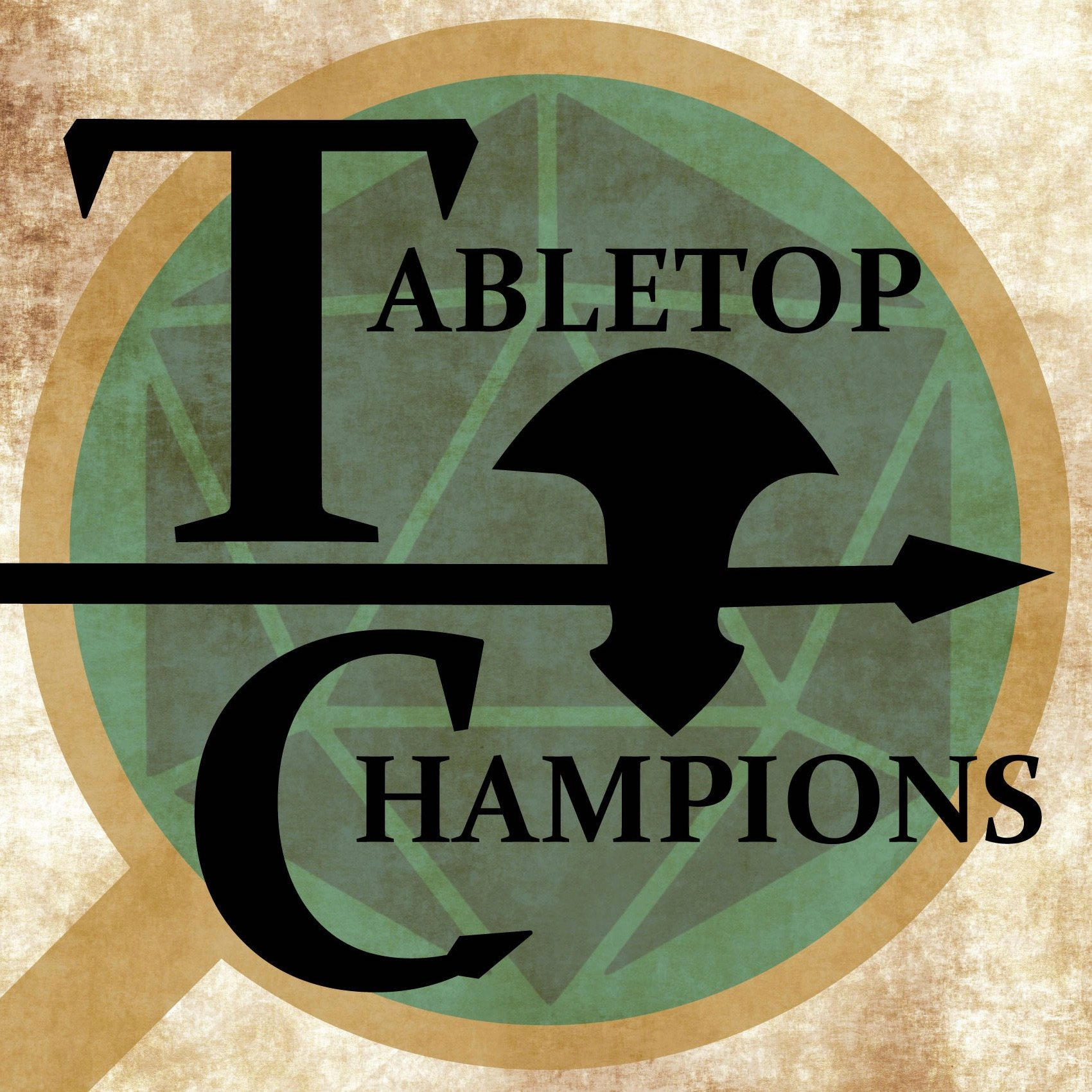 The Tabletop Champions are 6 awesome people, 5 players and a dungeon-master who play Dungeons and dragons 5th edition. Sean (the DM) heads the table on their hilarious and epic quests.   Players Kyle, Ben,  Matt , Stephanie and Lauren . These fine individuals meet online on a weekly basis for the recording of the podcast.  Diomedes Industries has partnered with them to produce official Tabletop Champtions Dicebags.   (Click on picture to check out their page.)