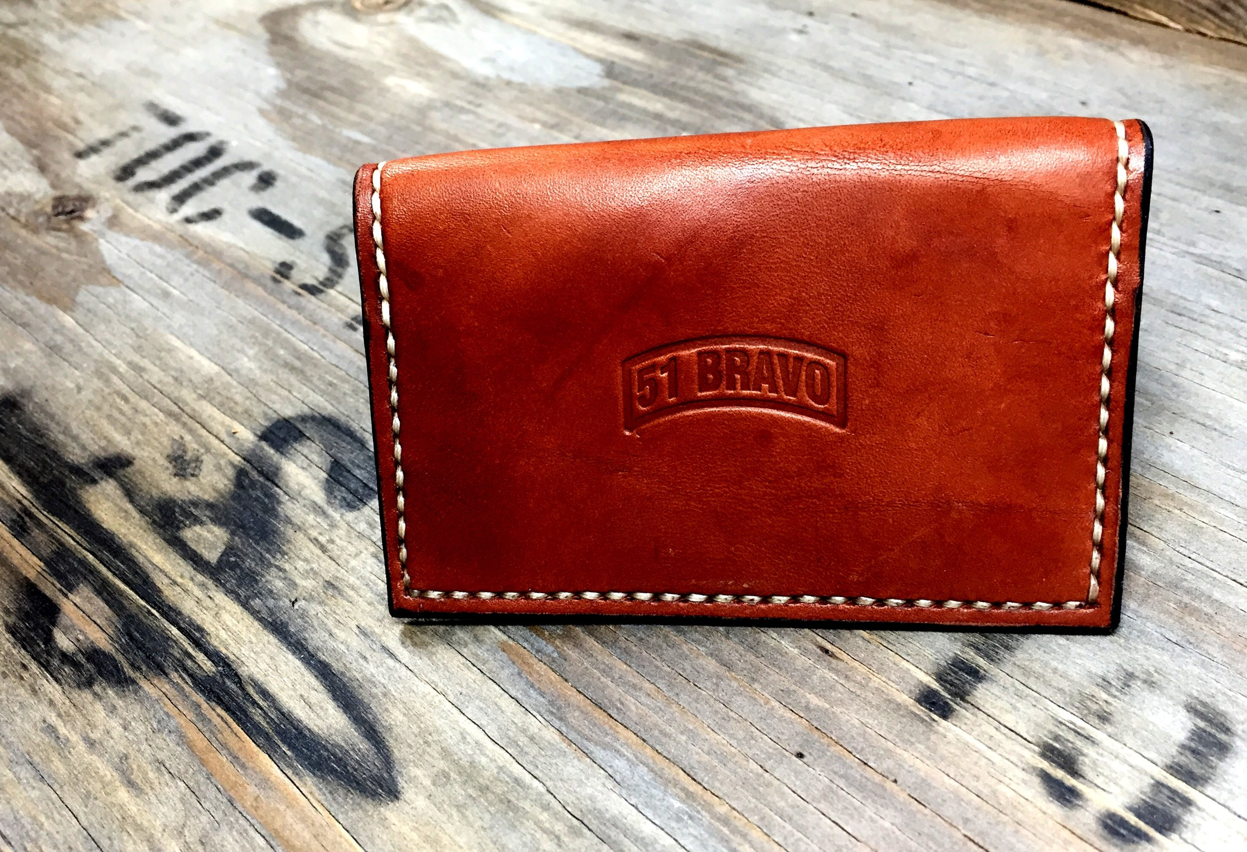 A custom wallet private labeled for a knife company: www.51bravo.com