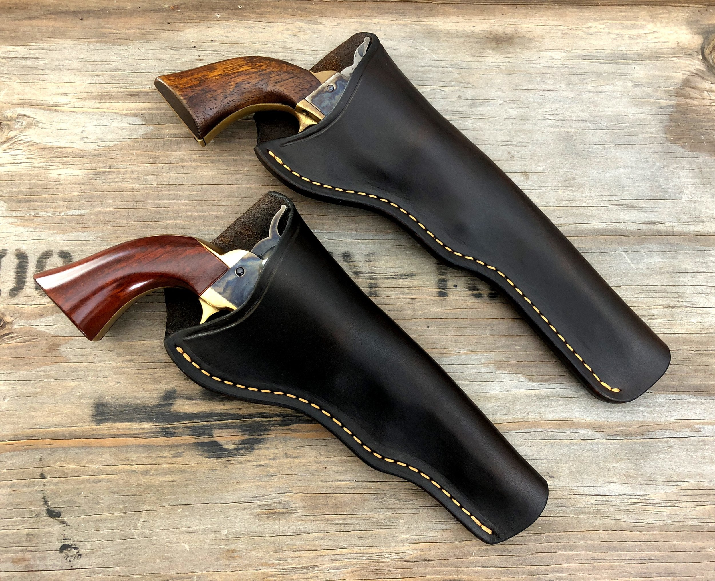 A set of customer holsters for the set of Harriet.