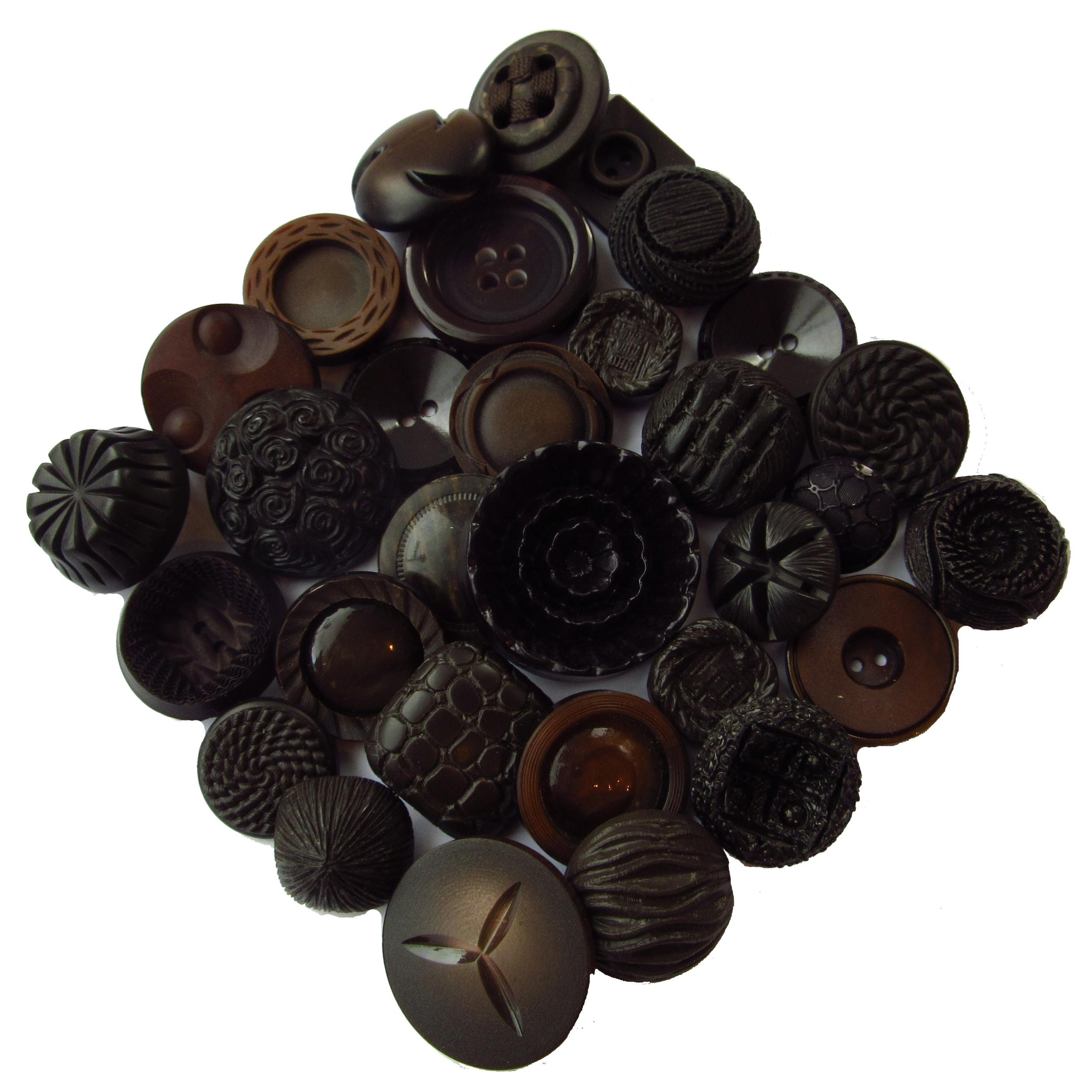 Boutons brun foncé