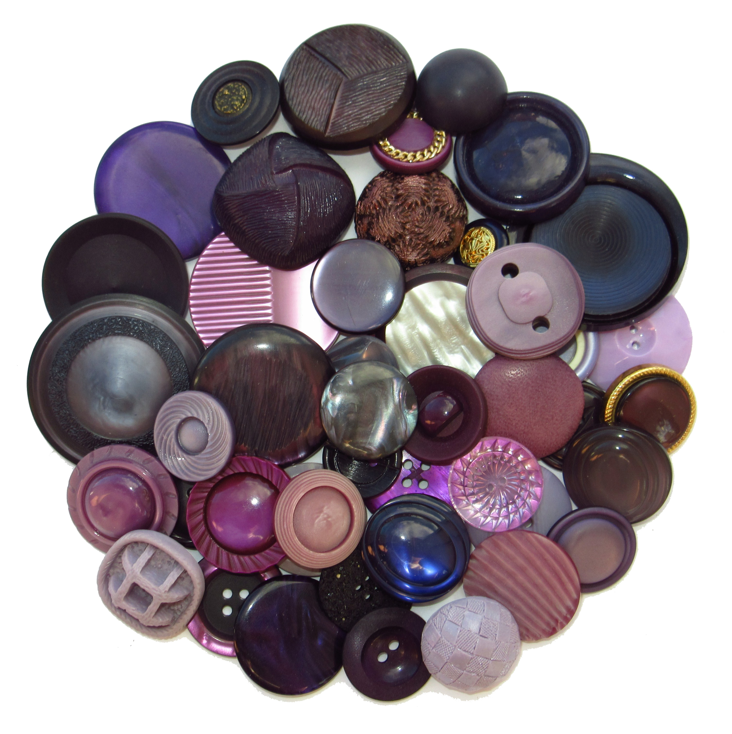 Boutons mauves