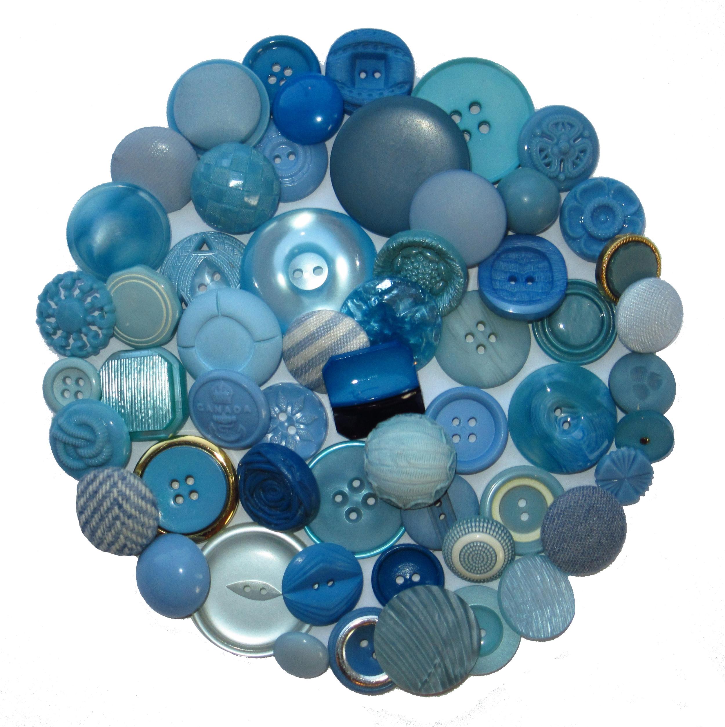 Boutons bleu clair