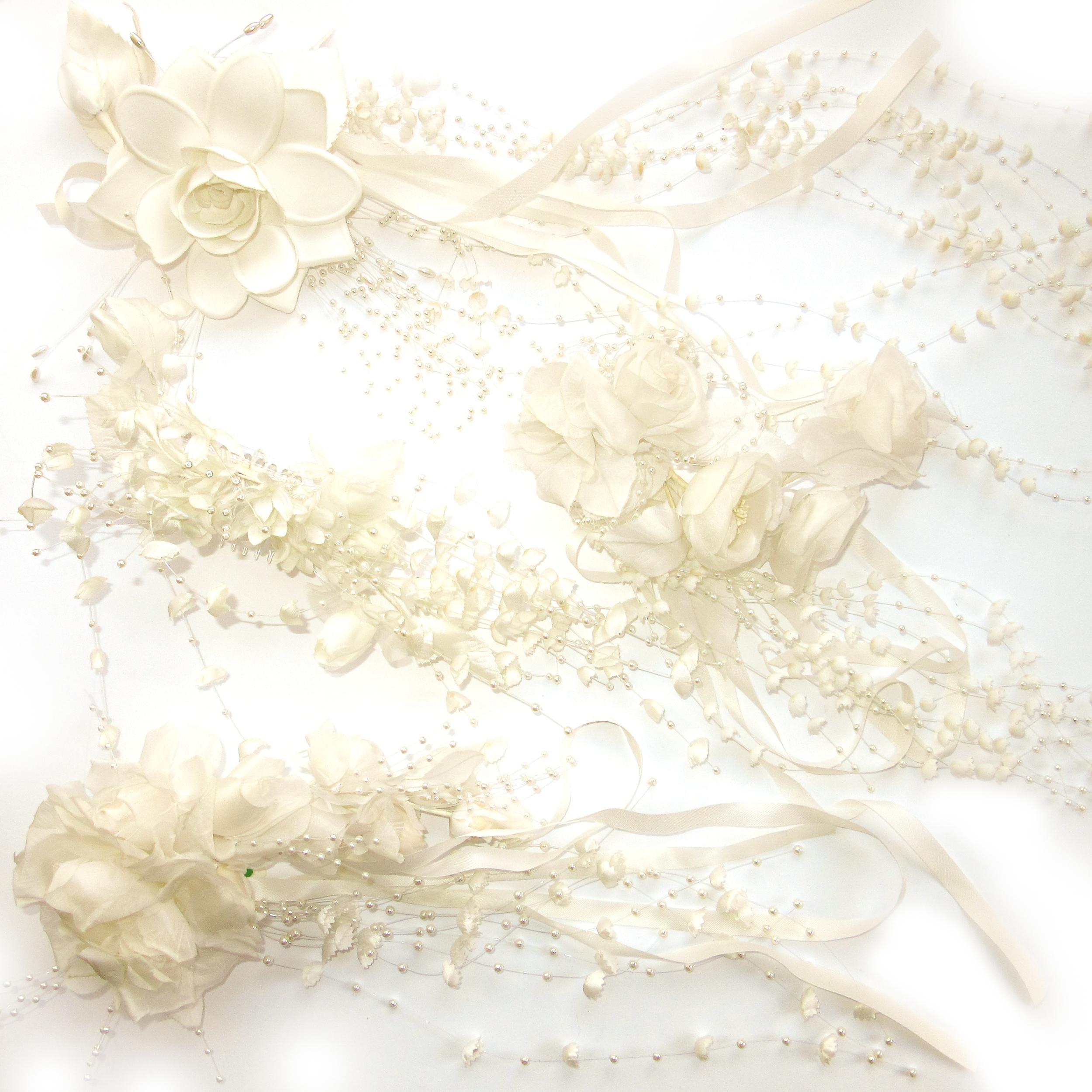 Fleurs de soie pour la mariée