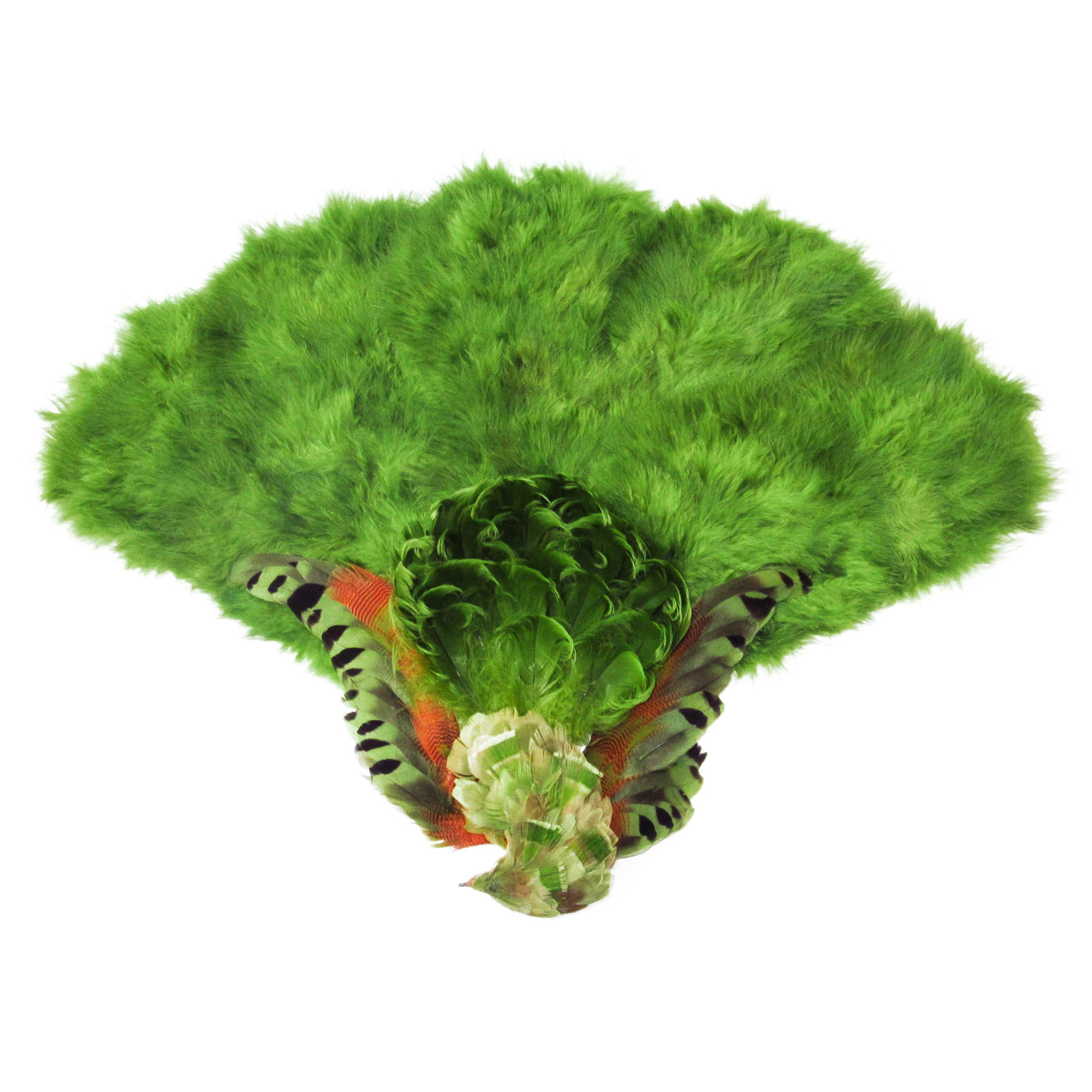 Plumes vert mousse