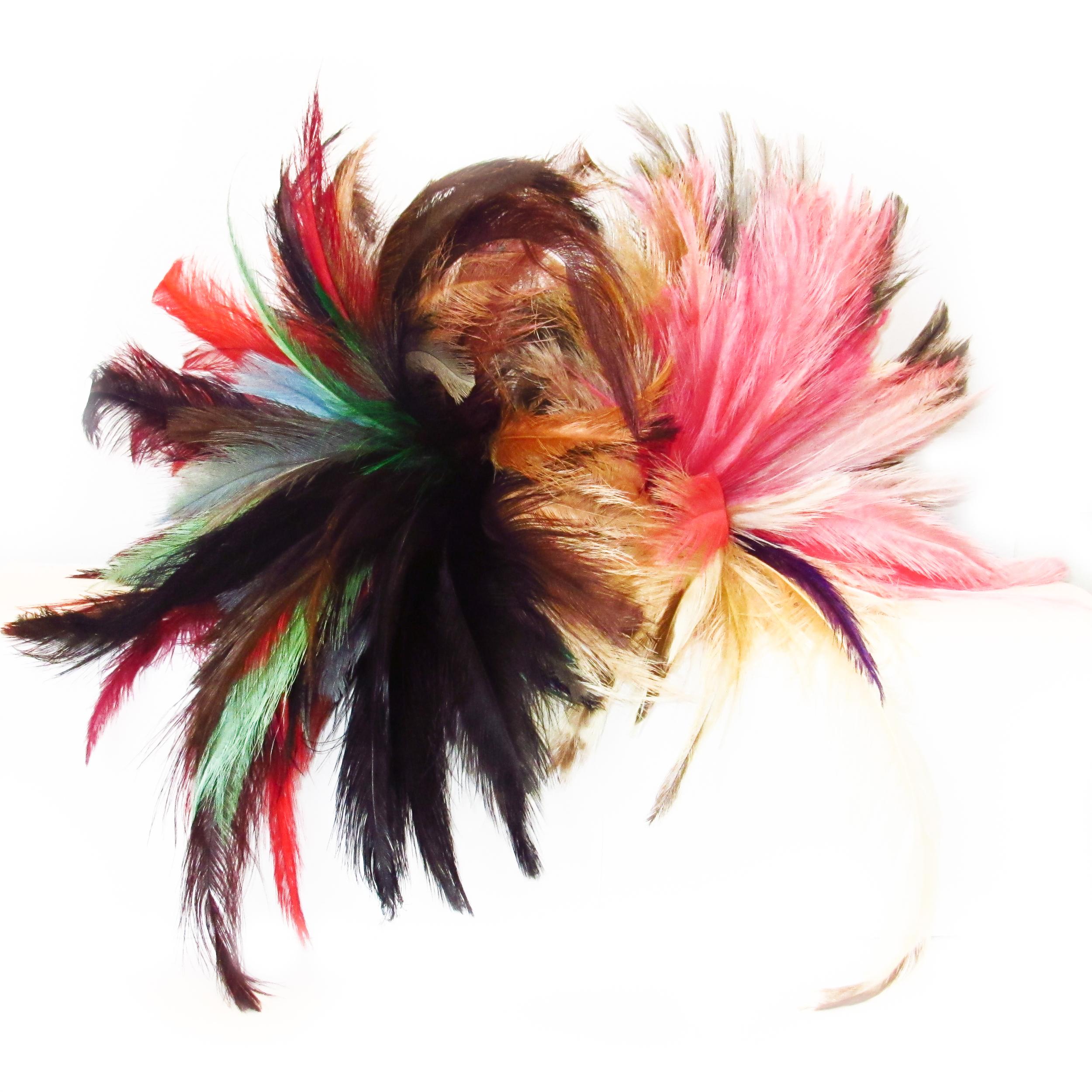 Plumes d'autruches fines multicolores