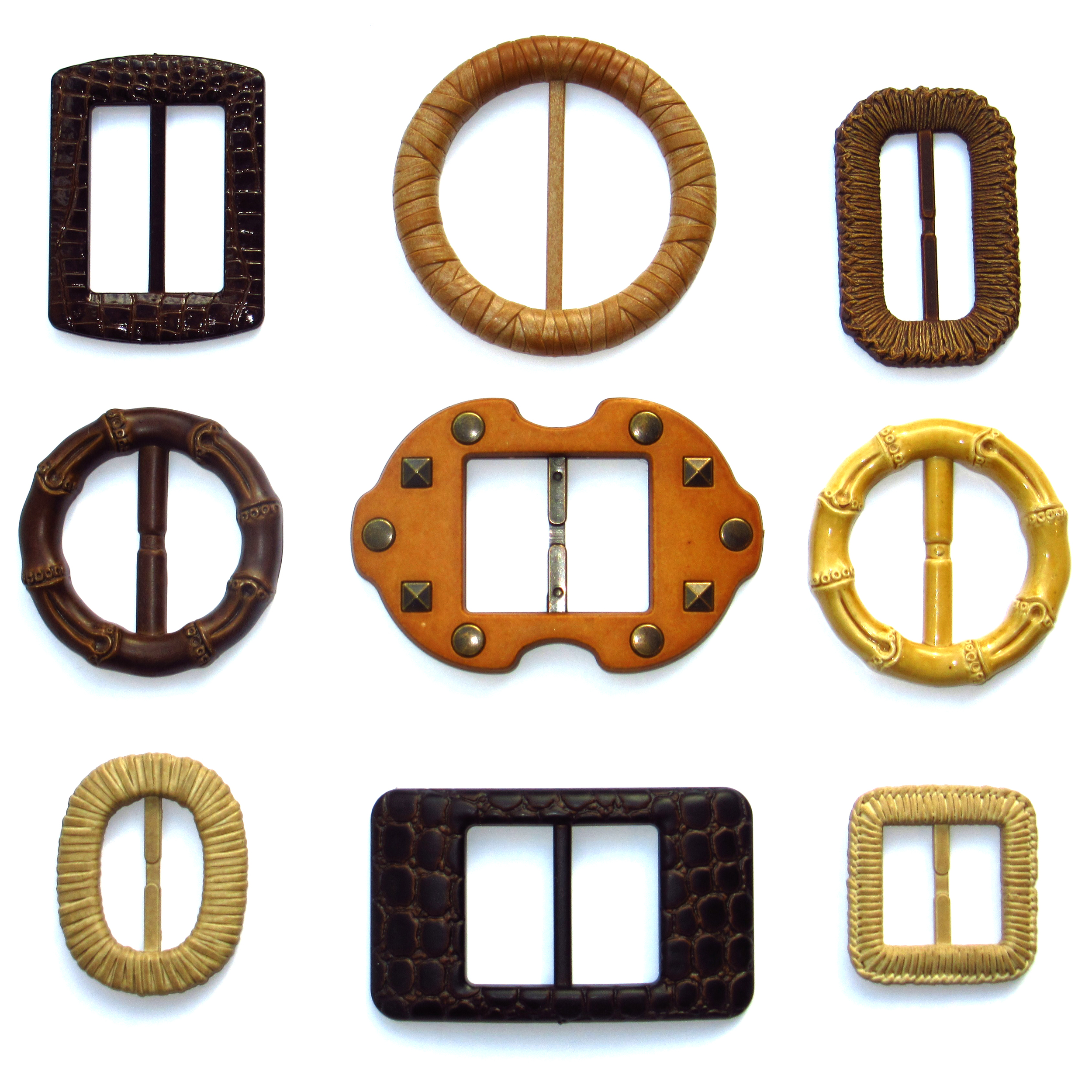 Natural imitation belt buckles