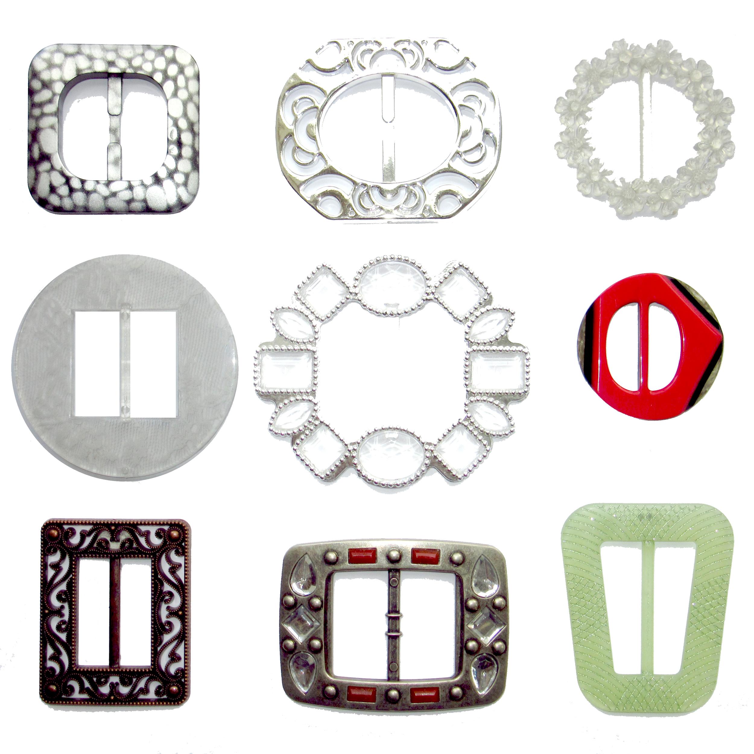 Plastic fantasy belt buckles
