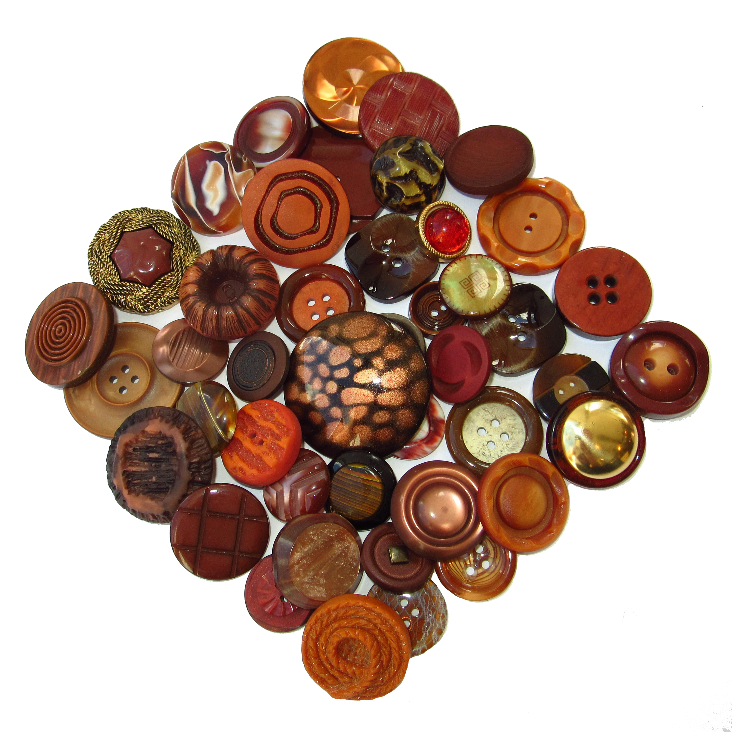 Copper colored buttons