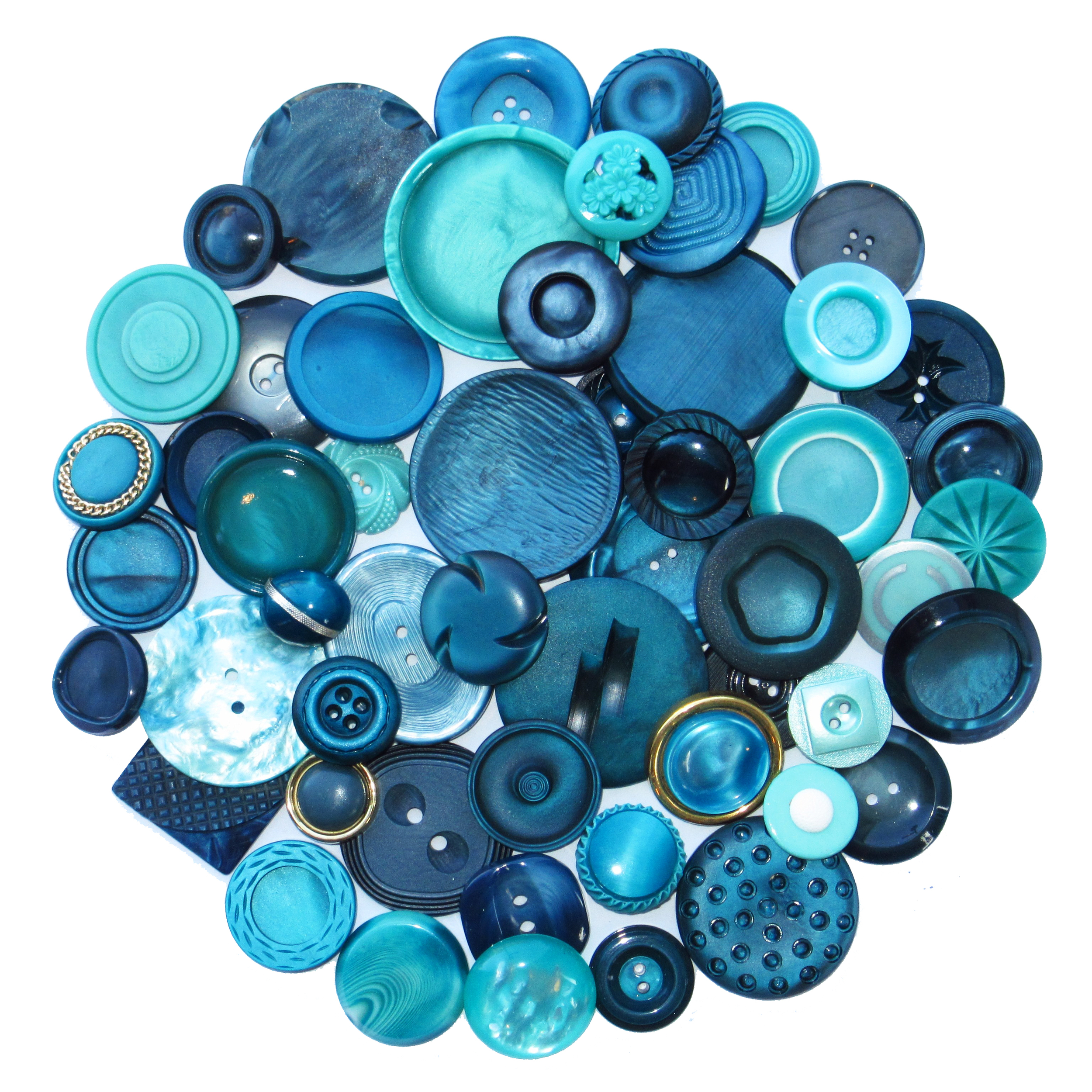 Turquoise blue buttons