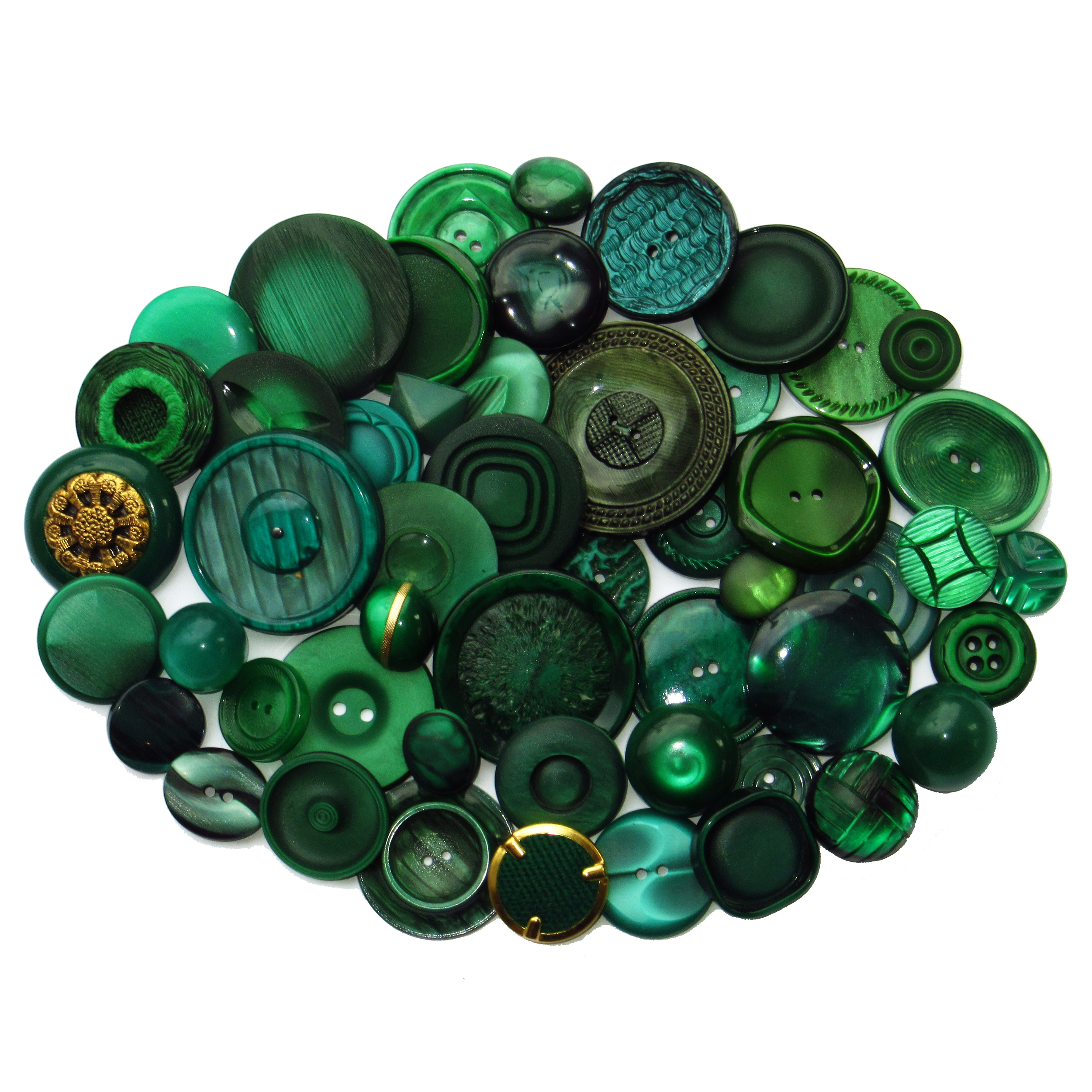 Dark green buttons