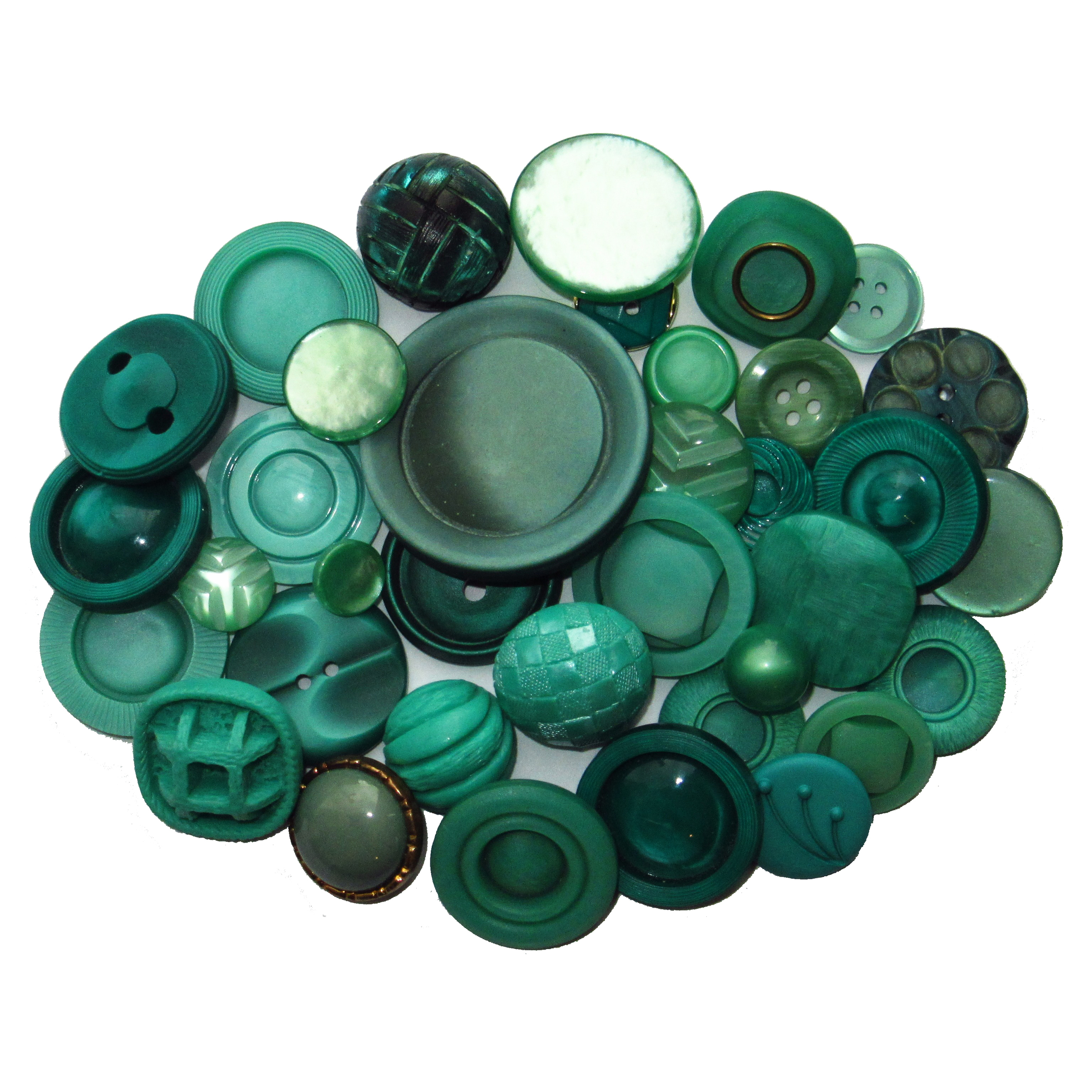 Turquoise green buttons