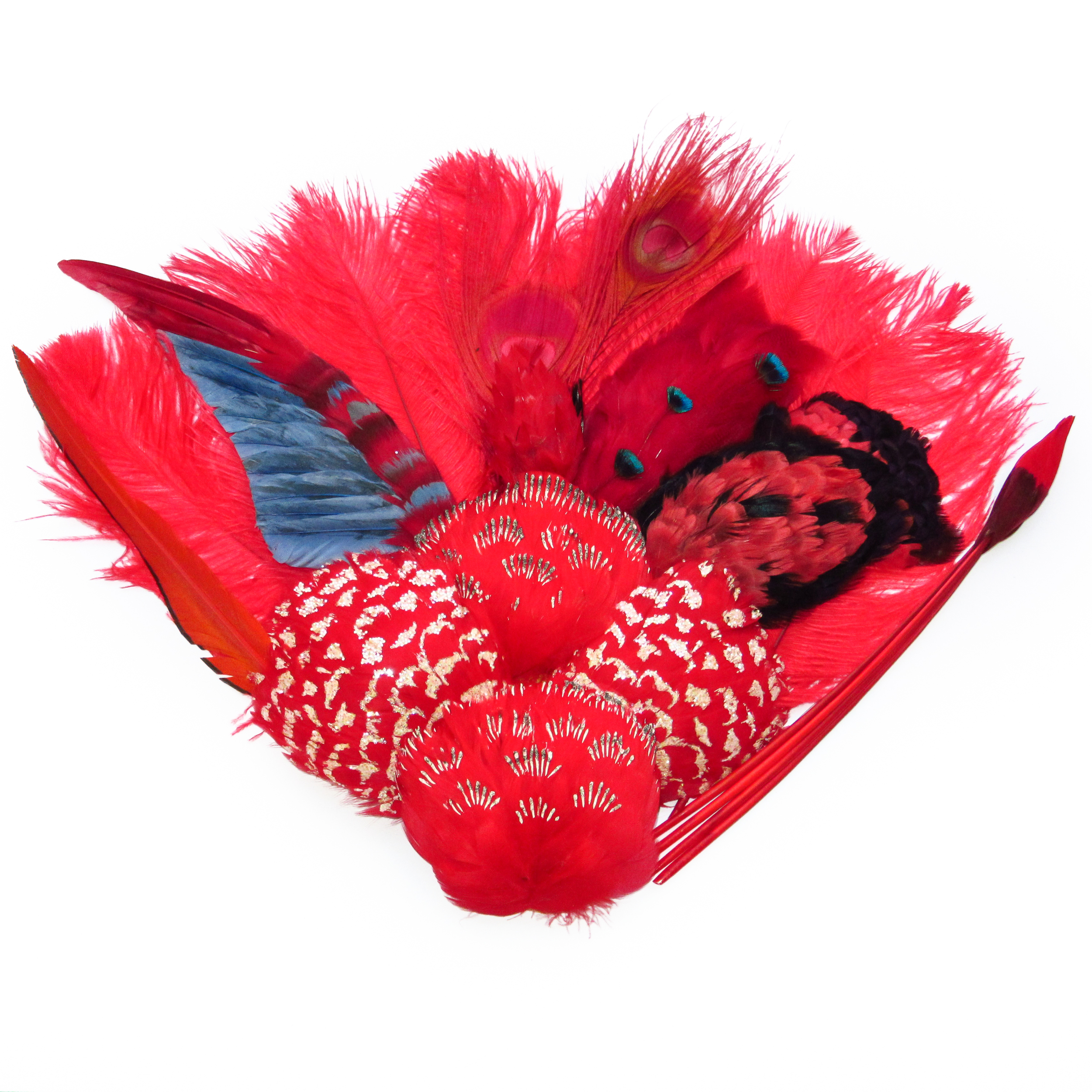 Red pink feathers