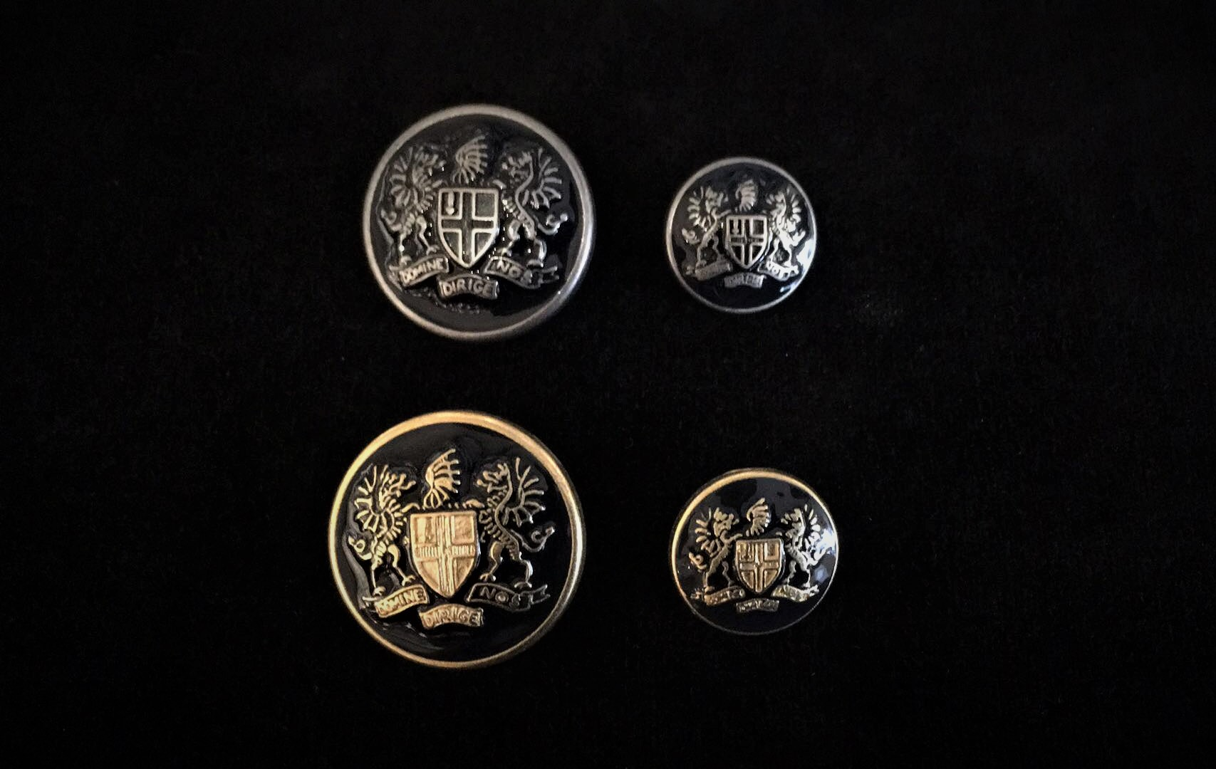 Metal Militray Style Buttons