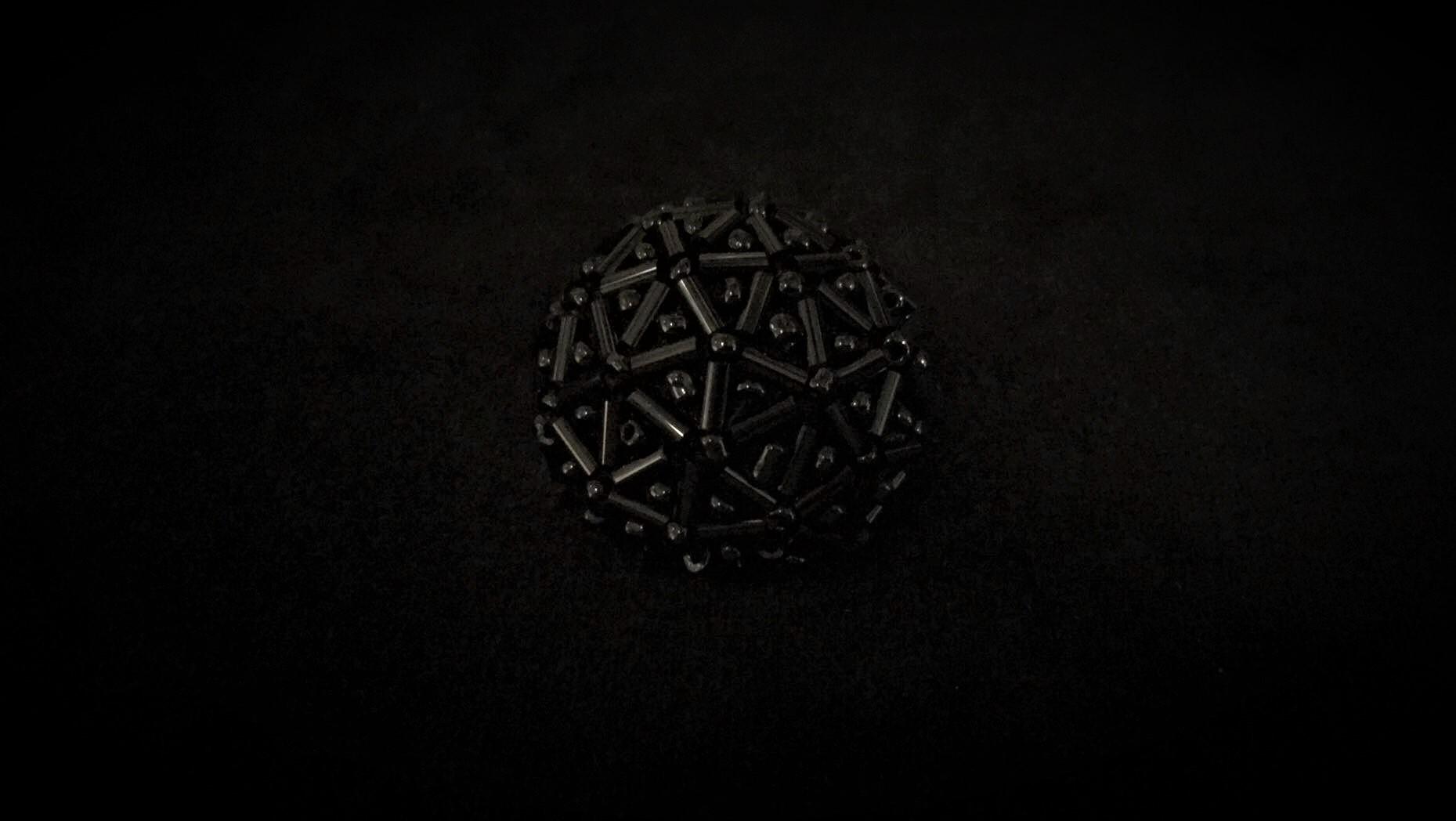 Boutons perlé noir