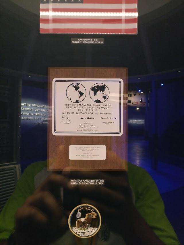 Moon landing plaque