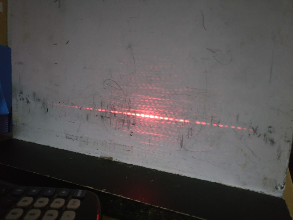 Diffraction pattern from lab.