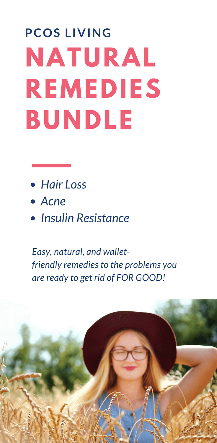 Natural Remedies for PCOS. All natural remedies you can make at home! Click now to get the bundle! // PCOS Remedies // PCOS Acne // PCOS Hair Loss // PCOS and Hormones // PCOS Natural Remedies // Balance hormones naturally // Hormone balancing | PCOSLiving.com #pcosliving #PCOS #PCOSRemedies