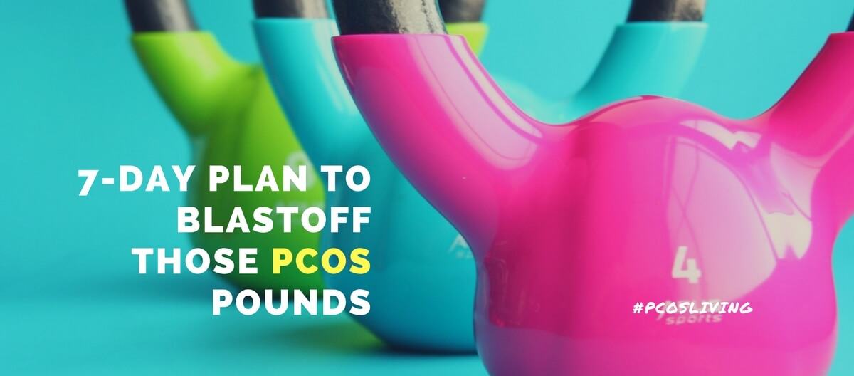 Want to shed the PCOS pounds?  Get my  7-day detailed plan  that includes diet and exercises that produces results. It is currently on sale for $20. What have you got to lose except the pounds?  Click for more details!