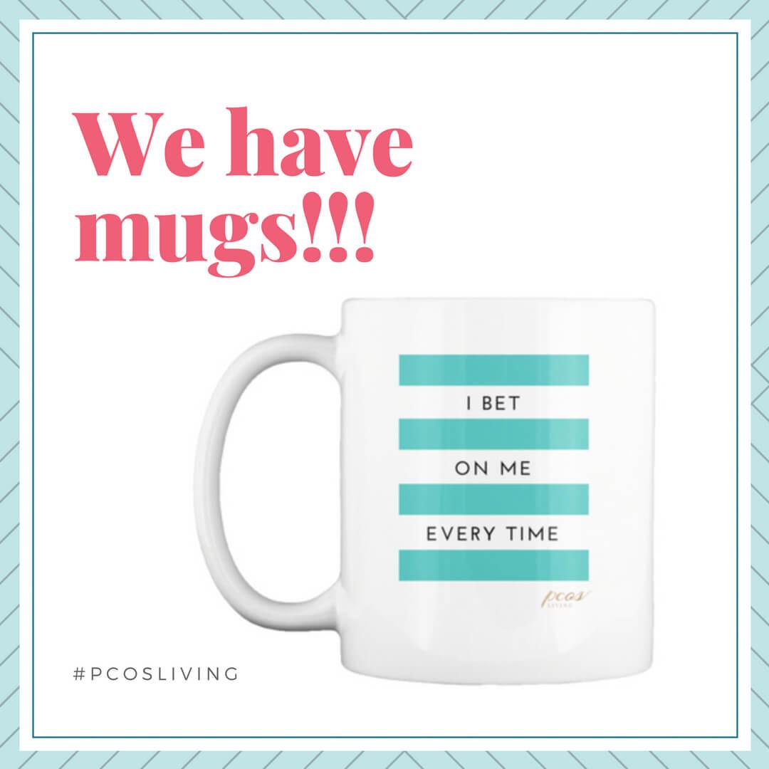 Instagram-PCOSLiving Apparel We have mugs!_ PCOSLiving.com.jp