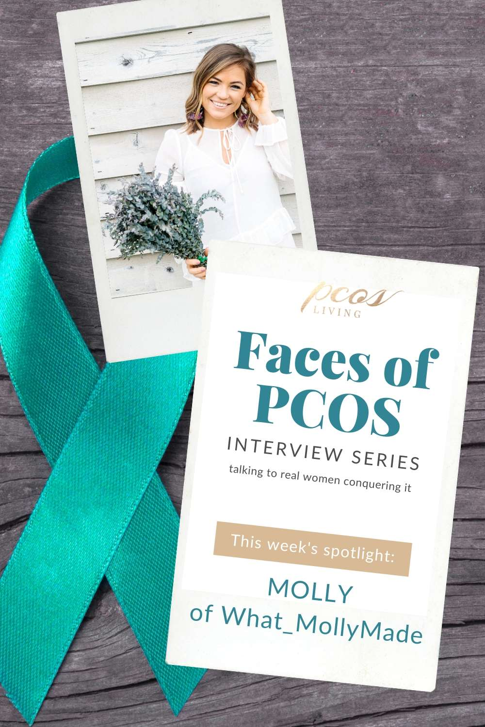PCOS Living Faces of PCOS Interview Series: Molly Thompson, she talks about how she is beating PCOS. Read her tips and advice.  PCOSLiving.com  #pcos #hormones #womenshealth