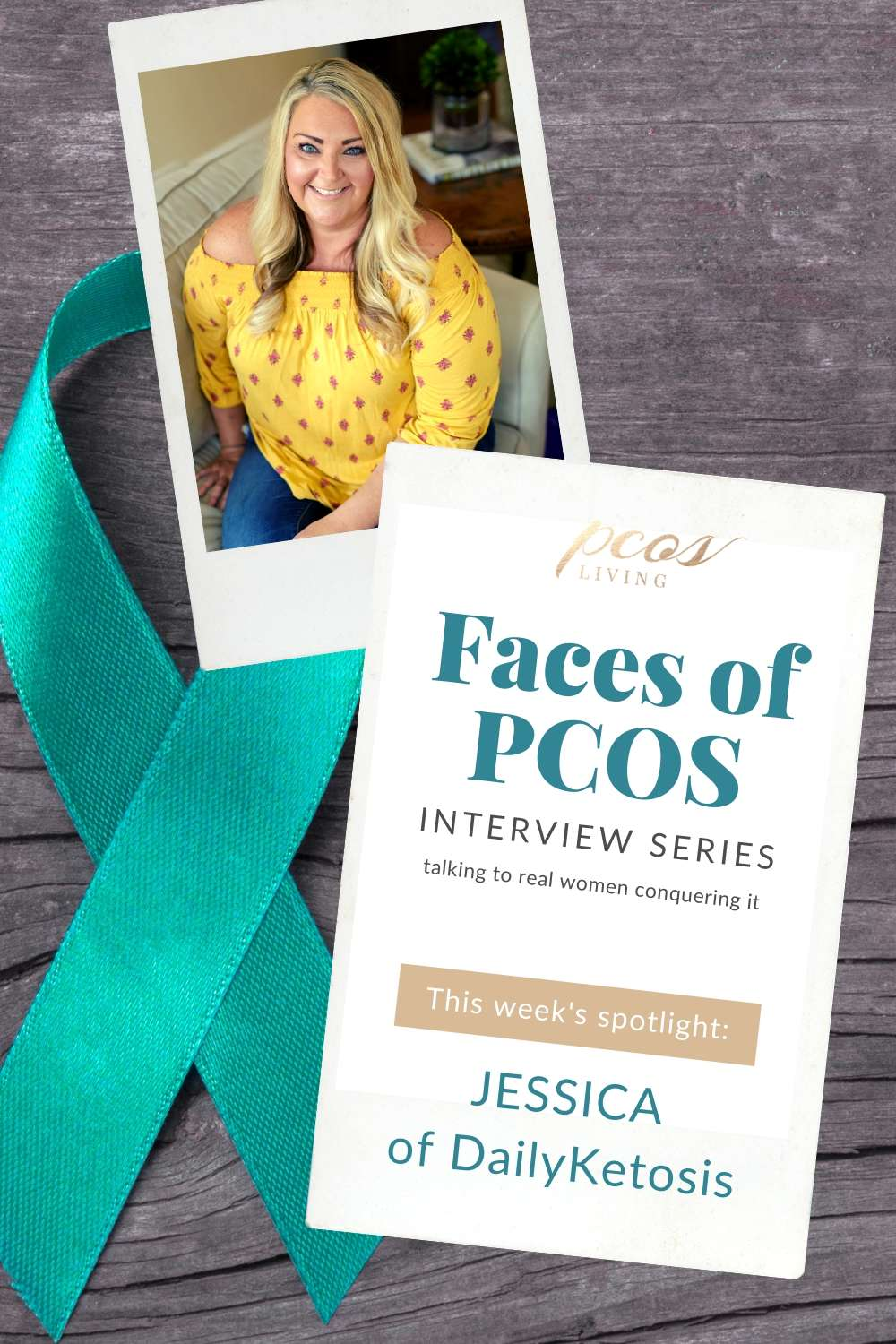 PCOS Living Faces of PCOS Interview Series: Jessica Dukes, she talks about how she is beating PCOS. Read her tips and advice.  PCOSLiving.com  #pcos #hormones #womenshealth