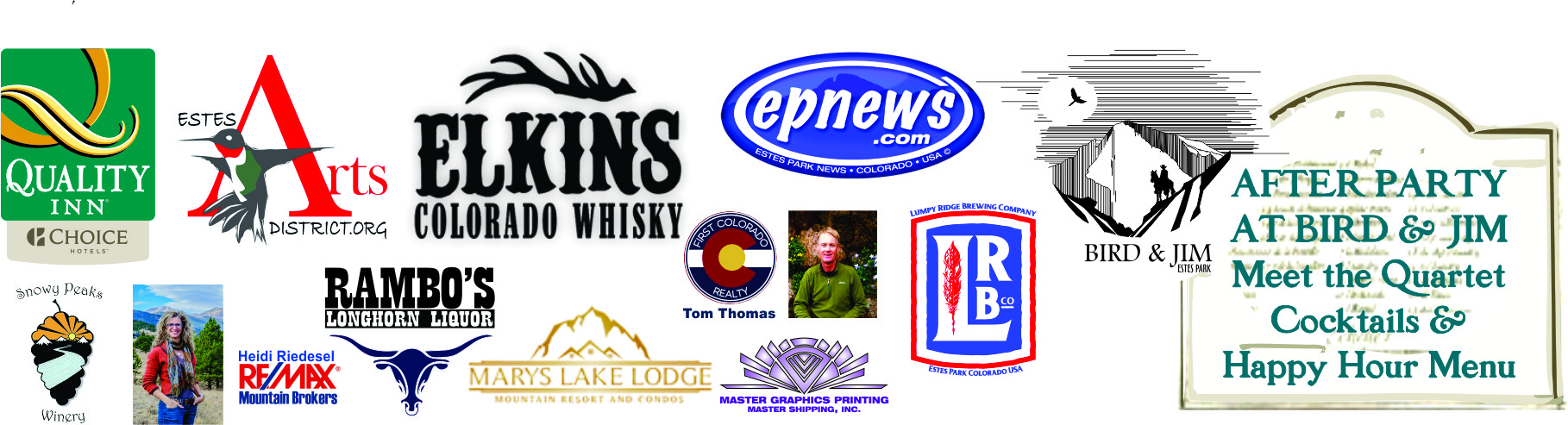 Please Help us thank our Sponsors for this amazing Concert right here in Estes Park!