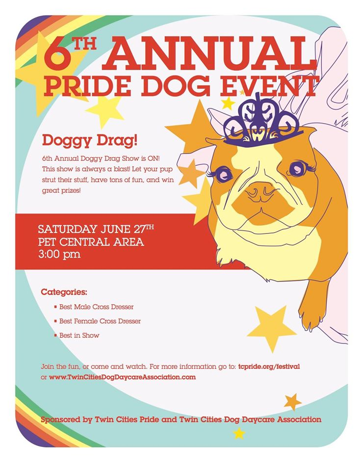 dog drag show at twin cities pride