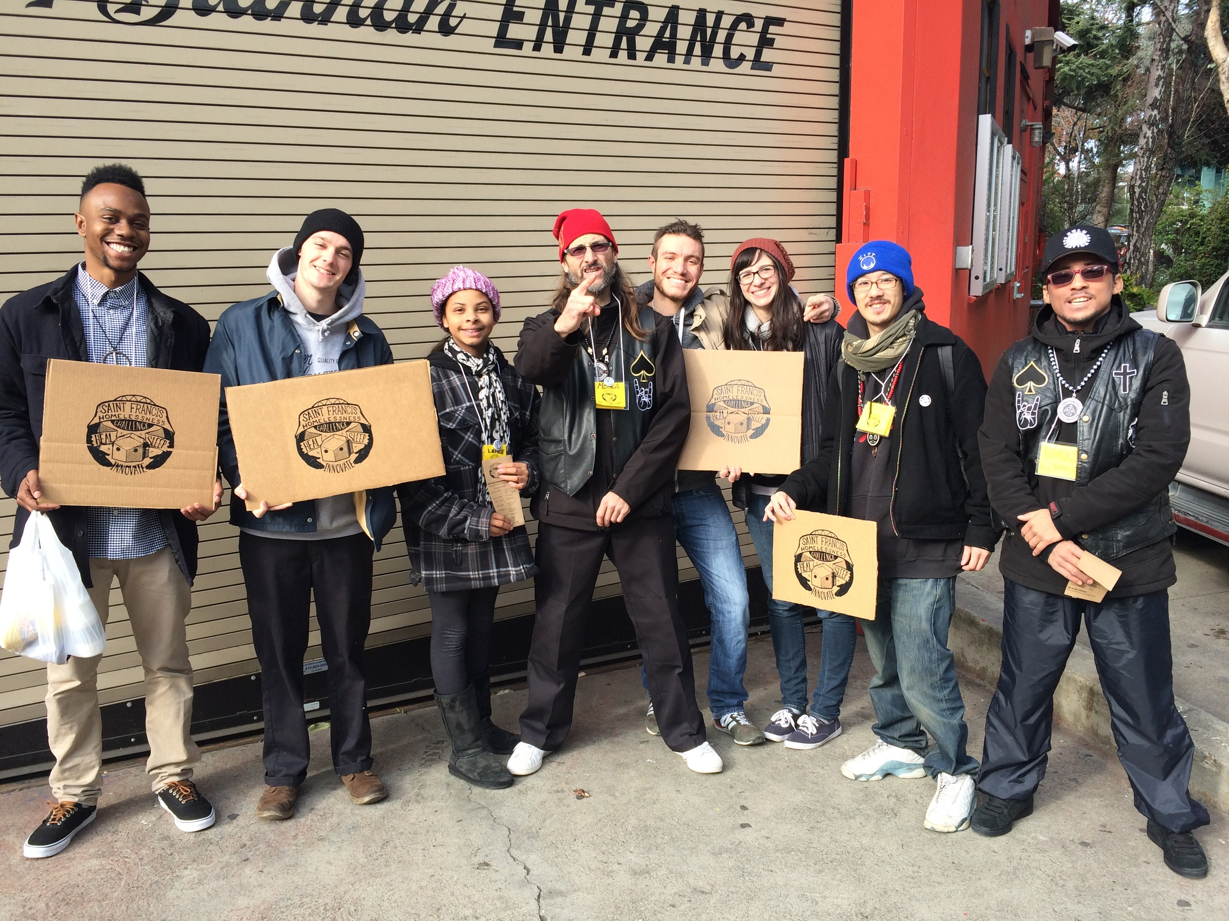 Volunteers at the Saint Francis Homelessness Challenge Showcase at SomArts (1.2.2016)