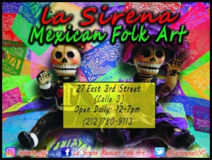 Thank you to La Sirena Mexican Folk Art for additional supplies.