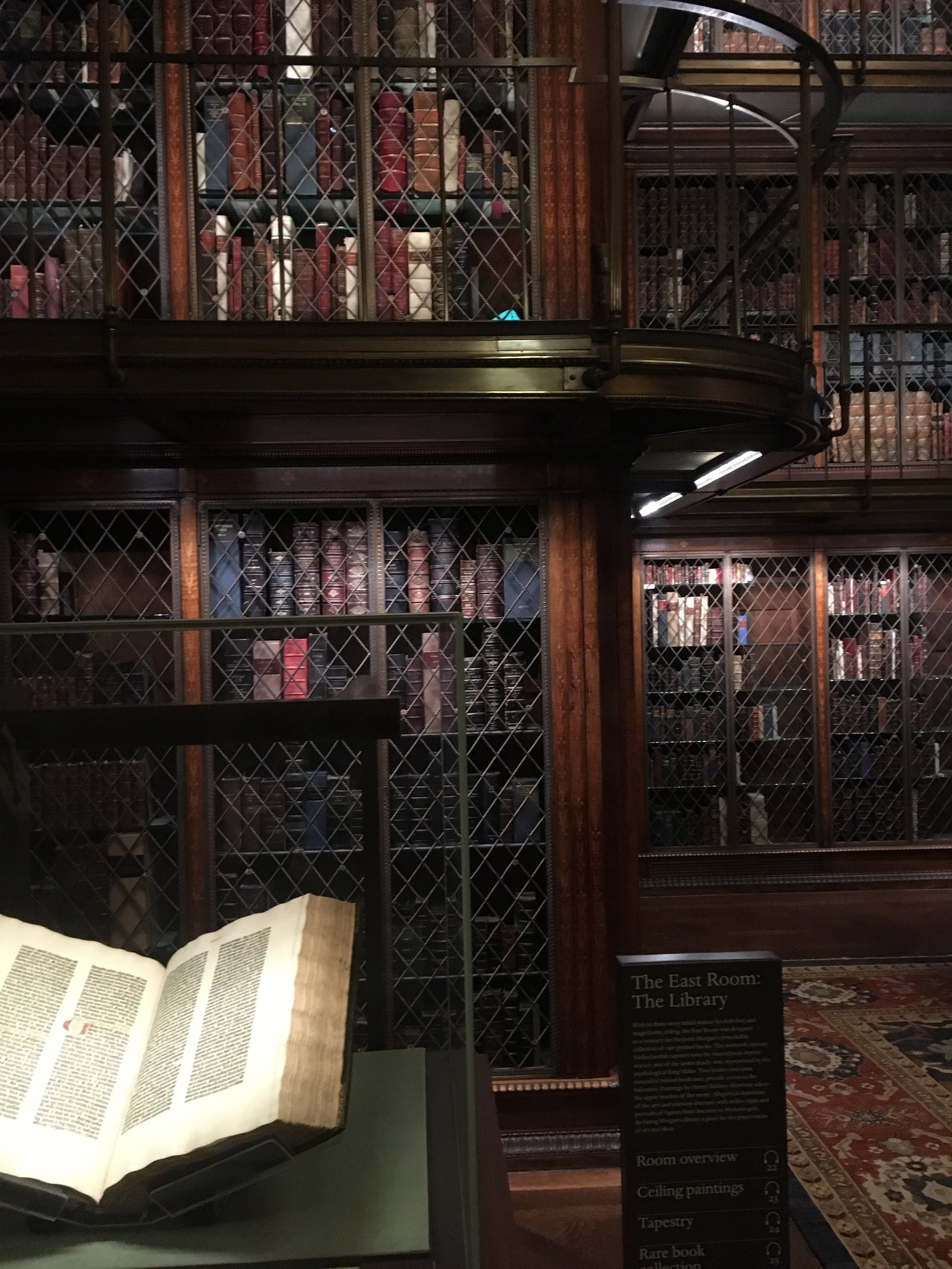 One of three Gutenberg Bibles in The Morgan's collection.