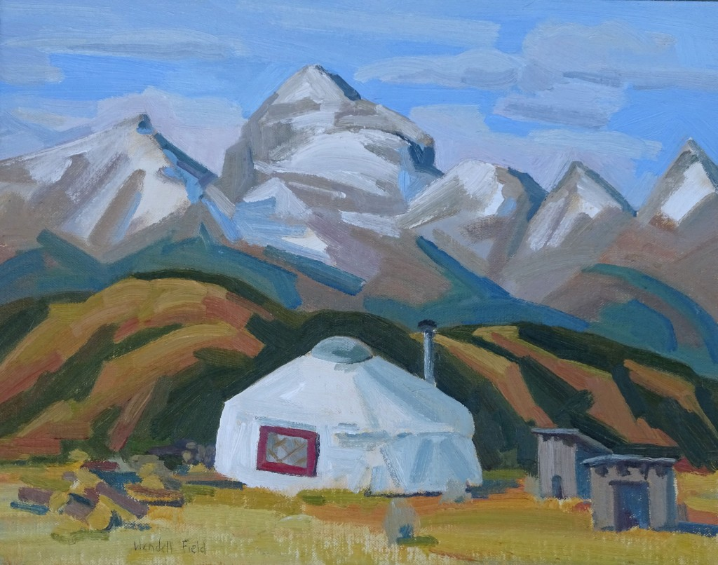 Where Vince and Mosey Lived. Oil on board by Wendell Field